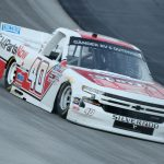 DOVER, DELAWARE - AUGUST 21: Carson Hocevar, driver of the #40 Scott's Chevrolet, drives during the NASCAR Gander RV & Outdoors Truck Series KDI Office Technology 200 at Dover International Speedway on August 21, 2020 in Dover, Delaware. (Photo by Hunter Martin/Getty Images)   Getty Images