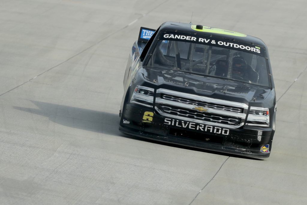 DOVER, DELAWARE - AUGUST 21: Norm Benning, driver of the #6 H&H Transport Chevrolet, drives during the NASCAR Gander RV & Outdoors Truck Series KDI Office Technology 200 at Dover International Speedway on August 21, 2020 in Dover, Delaware. (Photo by Hunter Martin/Getty Images) | Getty Images