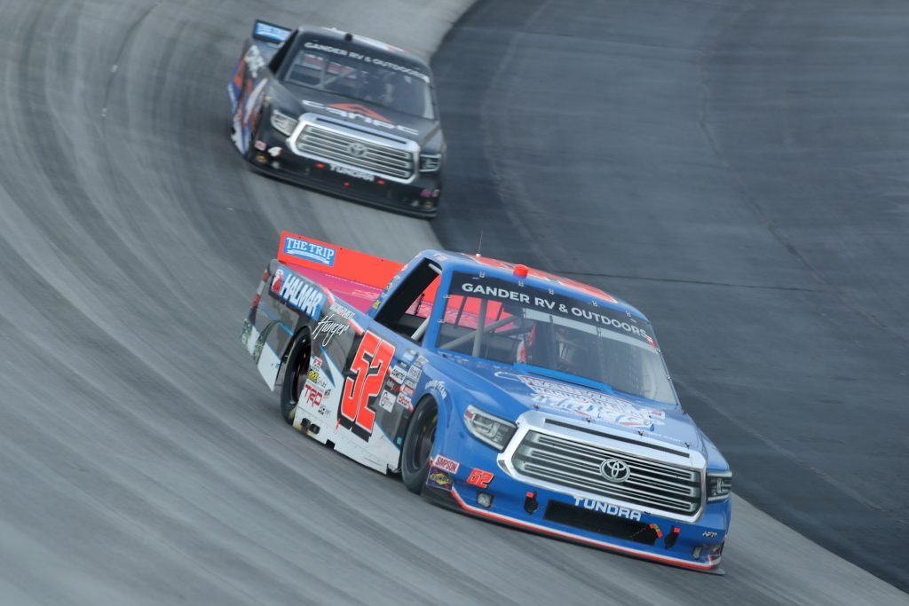 DOVER, DELAWARE - AUGUST 21: Stewart Friesen, driver of the #52 Halmar Racing To Beat Hunger Toyota, drives during the NASCAR Gander RV & Outdoors Truck Series KDI Office Technology 200 at Dover International Speedway on August 21, 2020 in Dover, Delaware. (Photo by Hunter Martin/Getty Images) | Getty Images