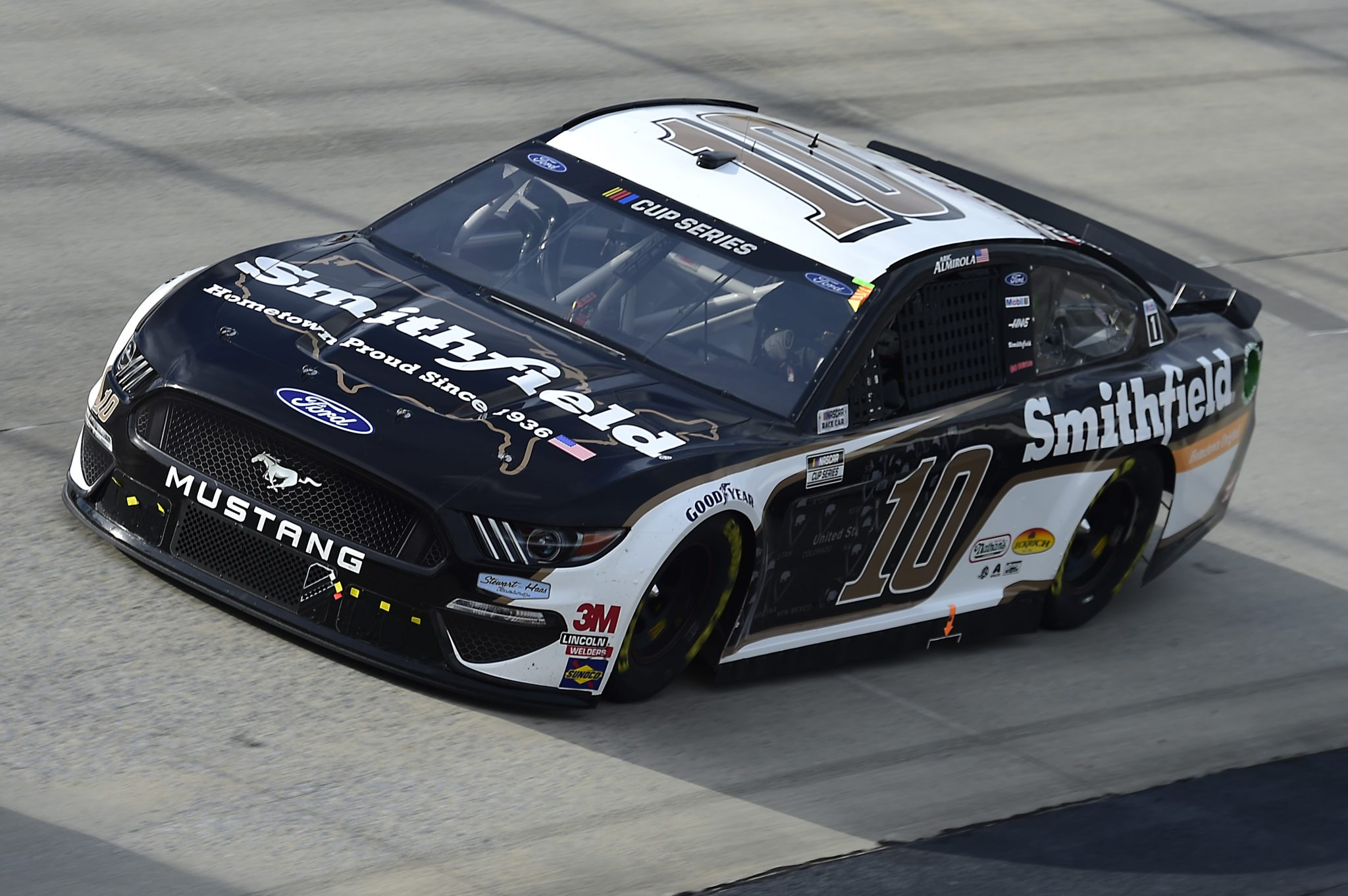 DOVER, DELAWARE - AUGUST 22: Aric Almirola, driver of the #10 Smithfield Hometown Original Ford, drives during the NASCAR Cup Series Drydene 311 at Dover International Speedway on August 22, 2020 in Dover, Delaware. (Photo by Jared C. Tilton/Getty Images) | Getty Images