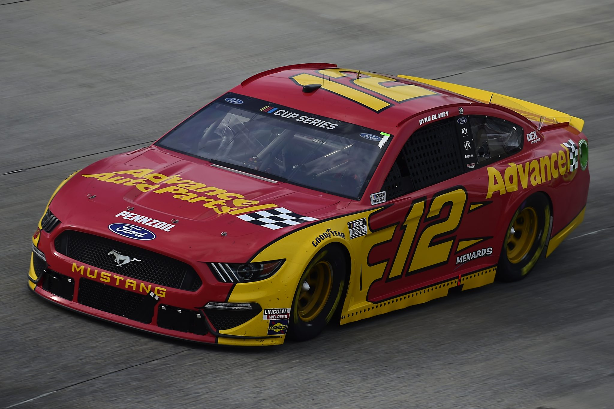 DOVER, DELAWARE - AUGUST 22: Ryan Blaney, driver of the #12 Advance Auto Parts Ford, drives during the NASCAR Cup Series Drydene 311 at Dover International Speedway on August 22, 2020 in Dover, Delaware. (Photo by Jared C. Tilton/Getty Images) | Getty Images