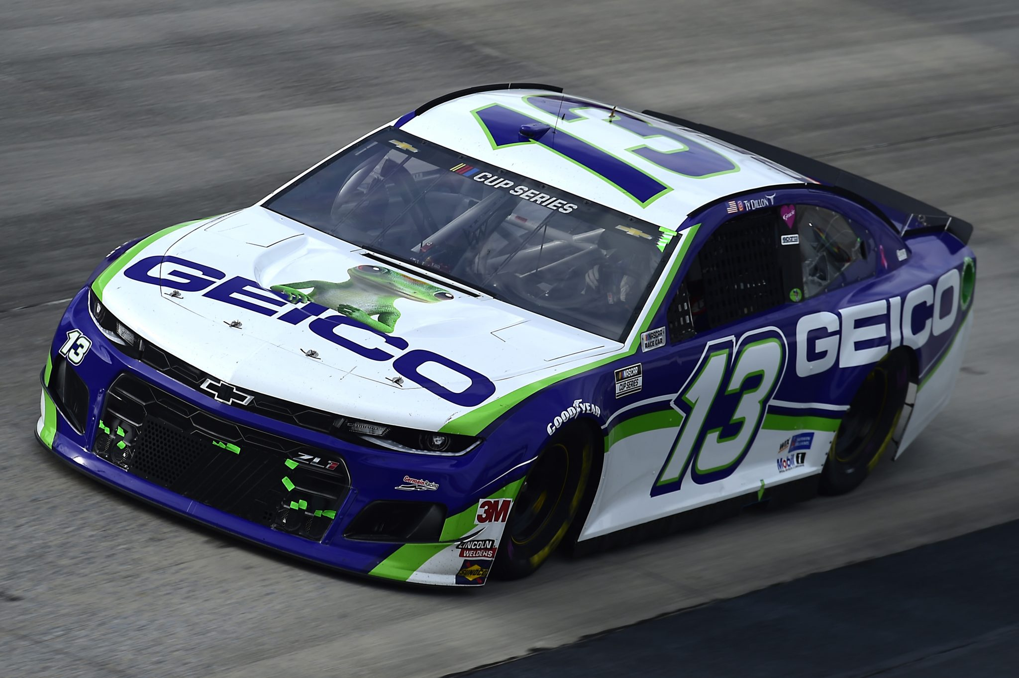 DOVER, DELAWARE - AUGUST 22: Ty Dillon, driver of the #13 GEICO Chevrolet, drives during the NASCAR Cup Series Drydene 311 at Dover International Speedway on August 22, 2020 in Dover, Delaware. (Photo by Jared C. Tilton/Getty Images) | Getty Images