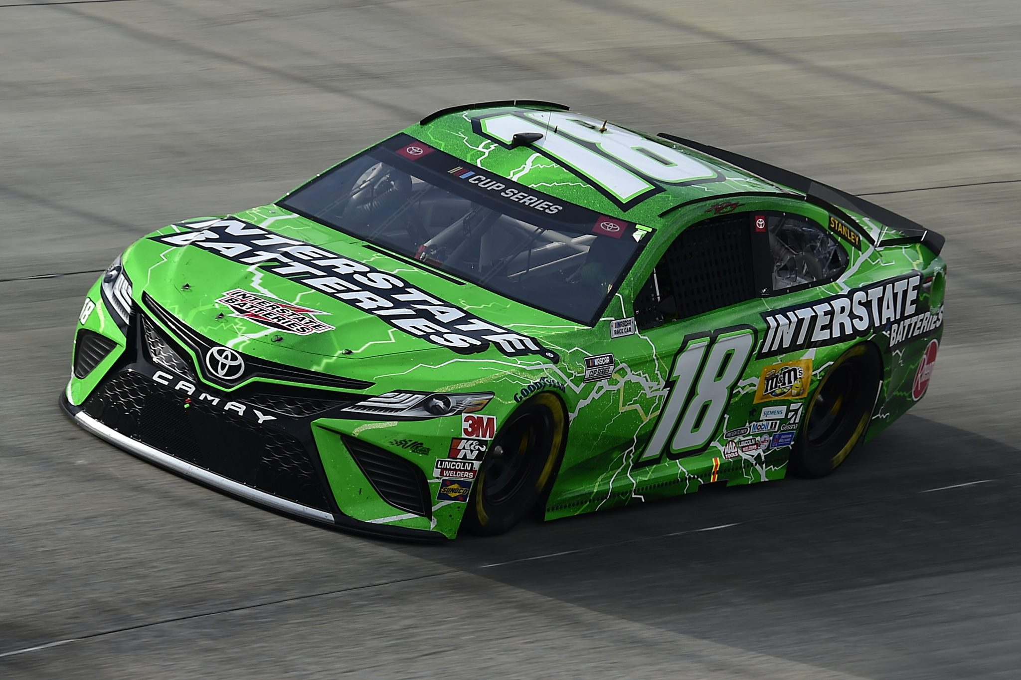 DOVER, DELAWARE - AUGUST 22: Kyle Busch, driver of the #18 Interstate Batteries Toyota, drives during the NASCAR Cup Series Drydene 311 at Dover International Speedway on August 22, 2020 in Dover, Delaware. (Photo by Jared C. Tilton/Getty Images) | Getty Images