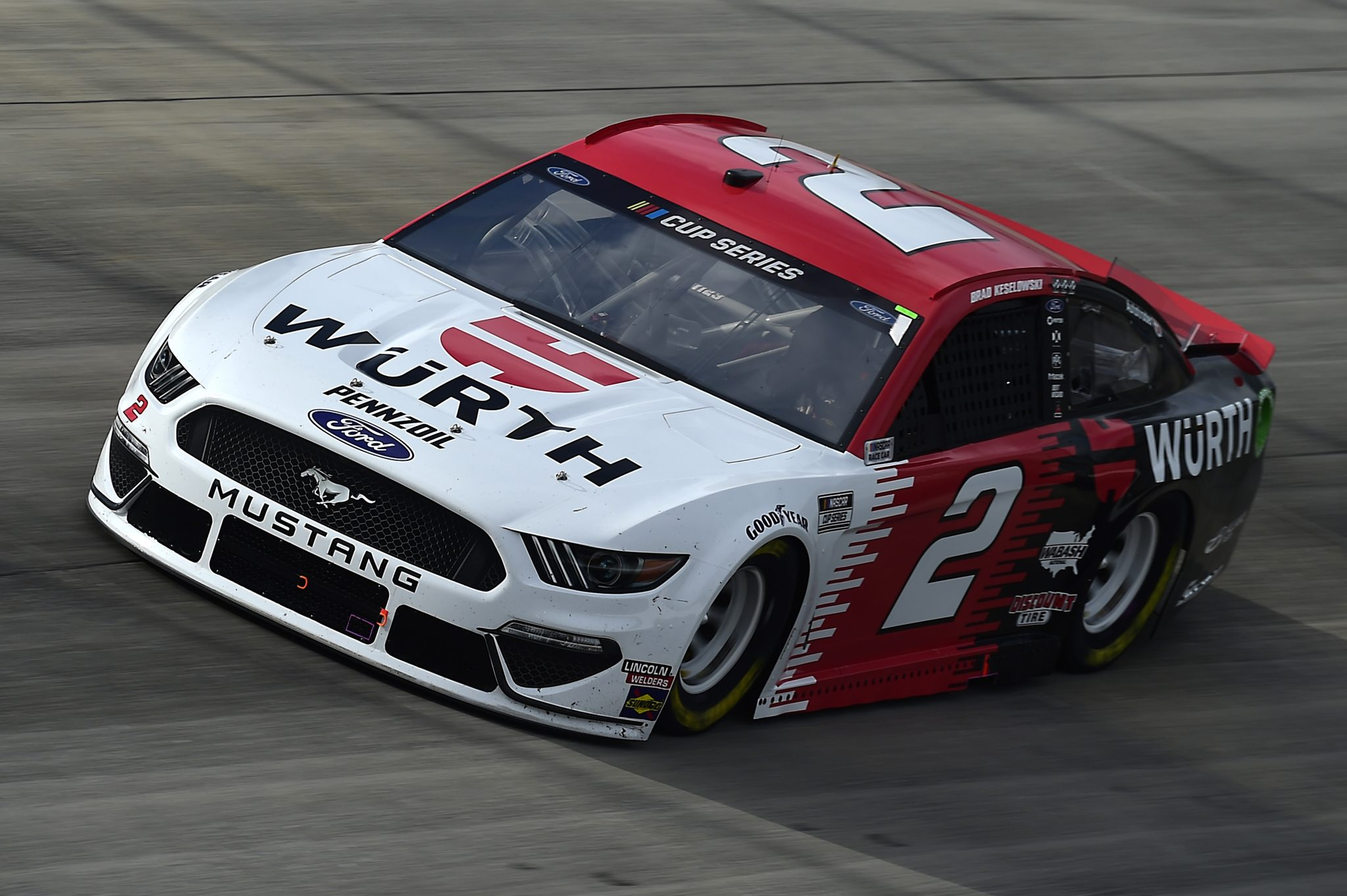 DOVER, DELAWARE - AUGUST 22: Brad Keselowski, driver of the #2 Wurth Ford, drives during the NASCAR Cup Series Drydene 311 at Dover International Speedway on August 22, 2020 in Dover, Delaware. (Photo by Jared C. Tilton/Getty Images) | Getty Images