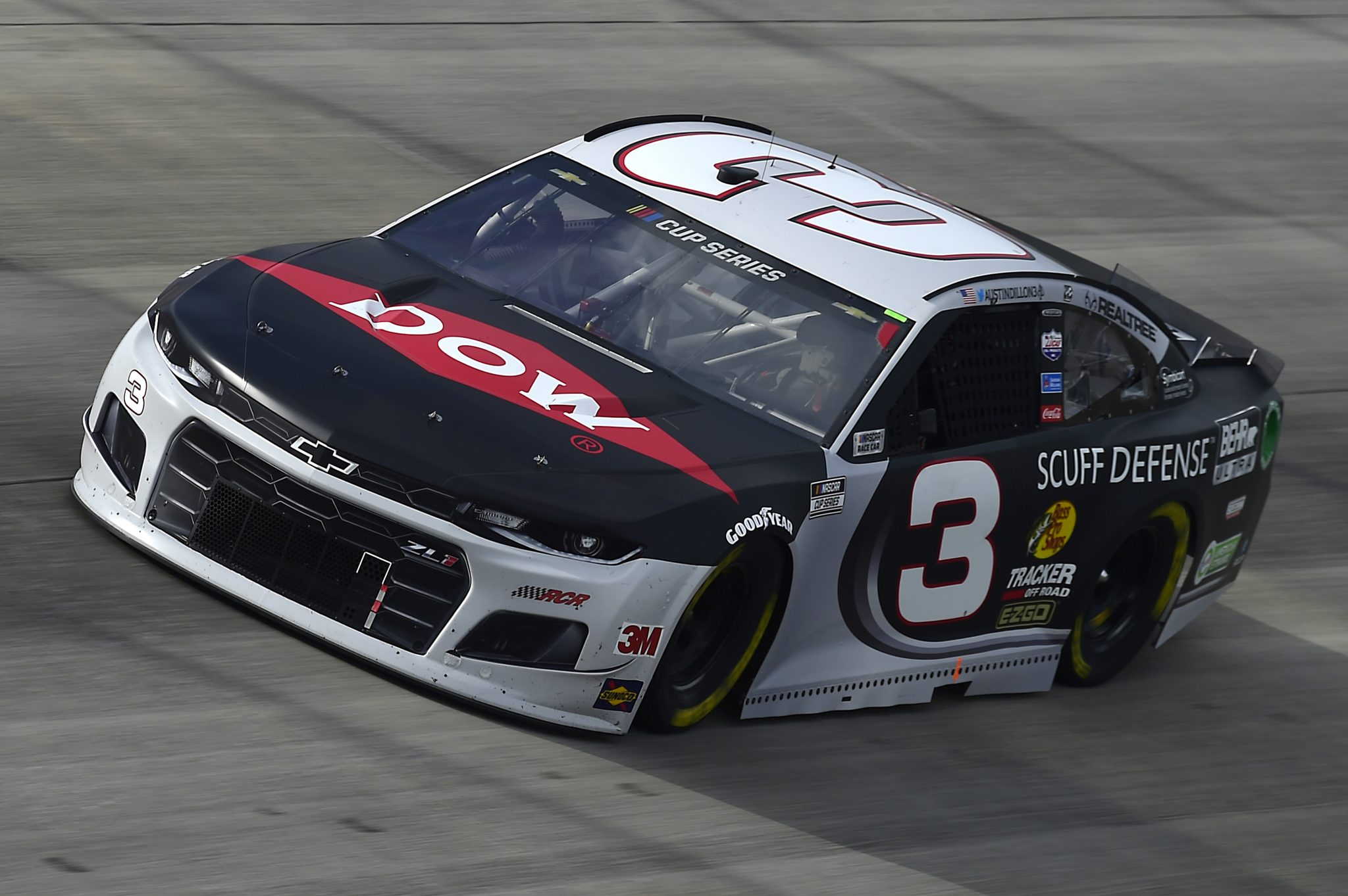DOVER, DELAWARE - AUGUST 22: Austin Dillon, driver of the #3 Dow/Behr Ultra Scuff Defense Chevrolet, drives during the NASCAR Cup Series Drydene 311 at Dover International Speedway on August 22, 2020 in Dover, Delaware. (Photo by Jared C. Tilton/Getty Images) | Getty Images