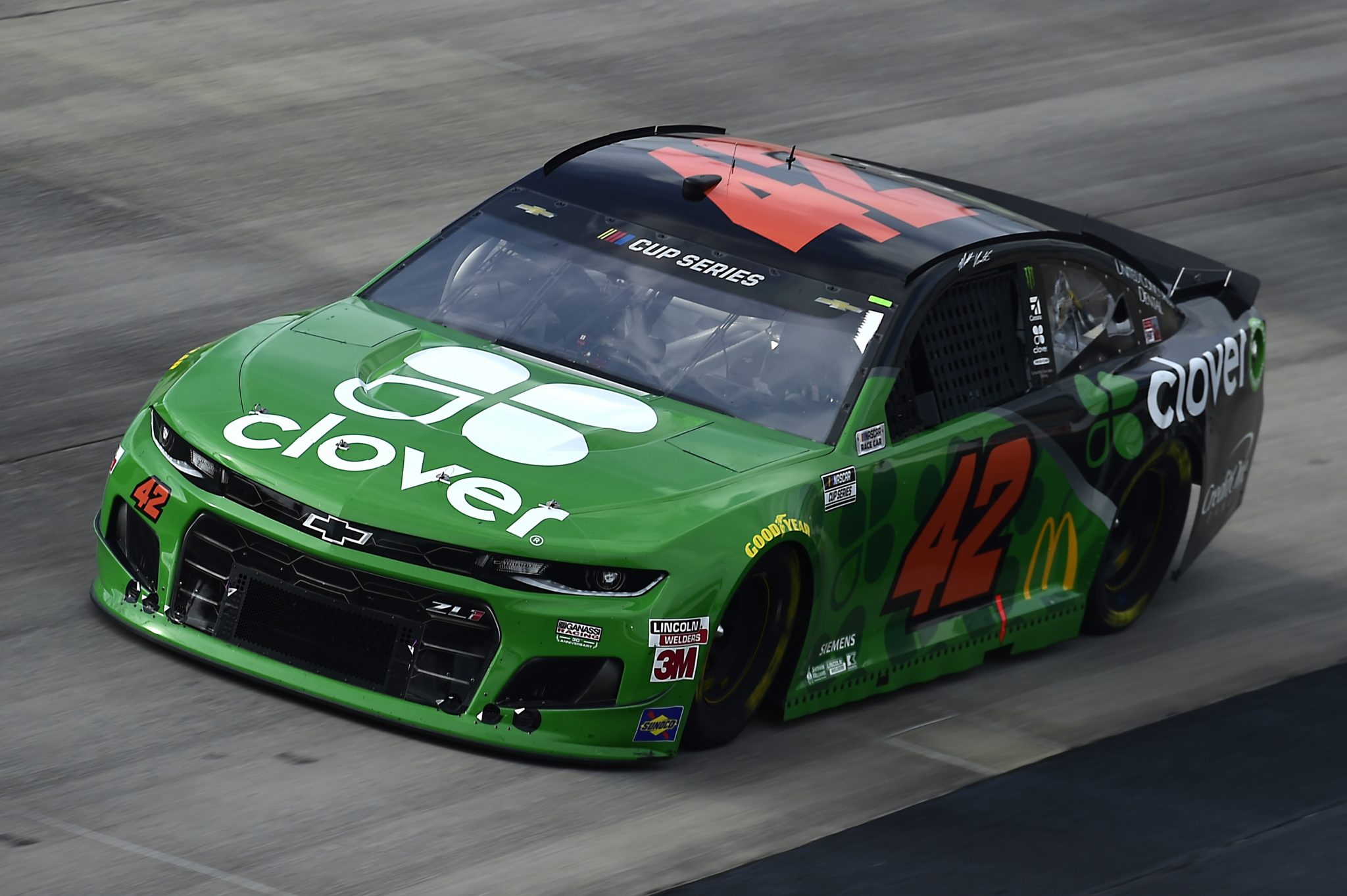 DOVER, DELAWARE - AUGUST 22: Matt Kenseth, driver of the #42 Clover Chevrolet, drives during the NASCAR Cup Series Drydene 311 at Dover International Speedway on August 22, 2020 in Dover, Delaware. (Photo by Jared C. Tilton/Getty Images) | Getty Images