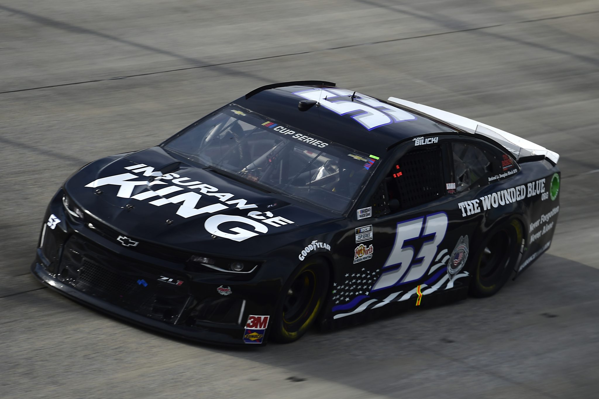 DOVER, DELAWARE - AUGUST 22: Josh Bilicki, driver of the #53 Chevrolet, drives during the NASCAR Cup Series Drydene 311 at Dover International Speedway on August 22, 2020 in Dover, Delaware. (Photo by Jared C. Tilton/Getty Images) | Getty Images