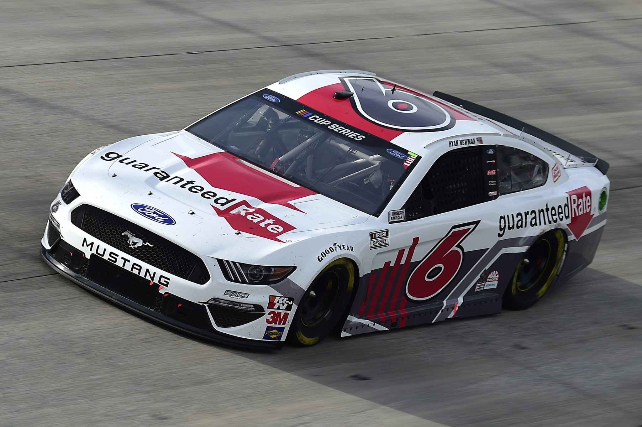DOVER, DELAWARE - AUGUST 22: Ryan Newman, driver of the #6 Guaranteed Rate Ford, drives during the NASCAR Cup Series Drydene 311 at Dover International Speedway on August 22, 2020 in Dover, Delaware. (Photo by Jared C. Tilton/Getty Images) | Getty Images