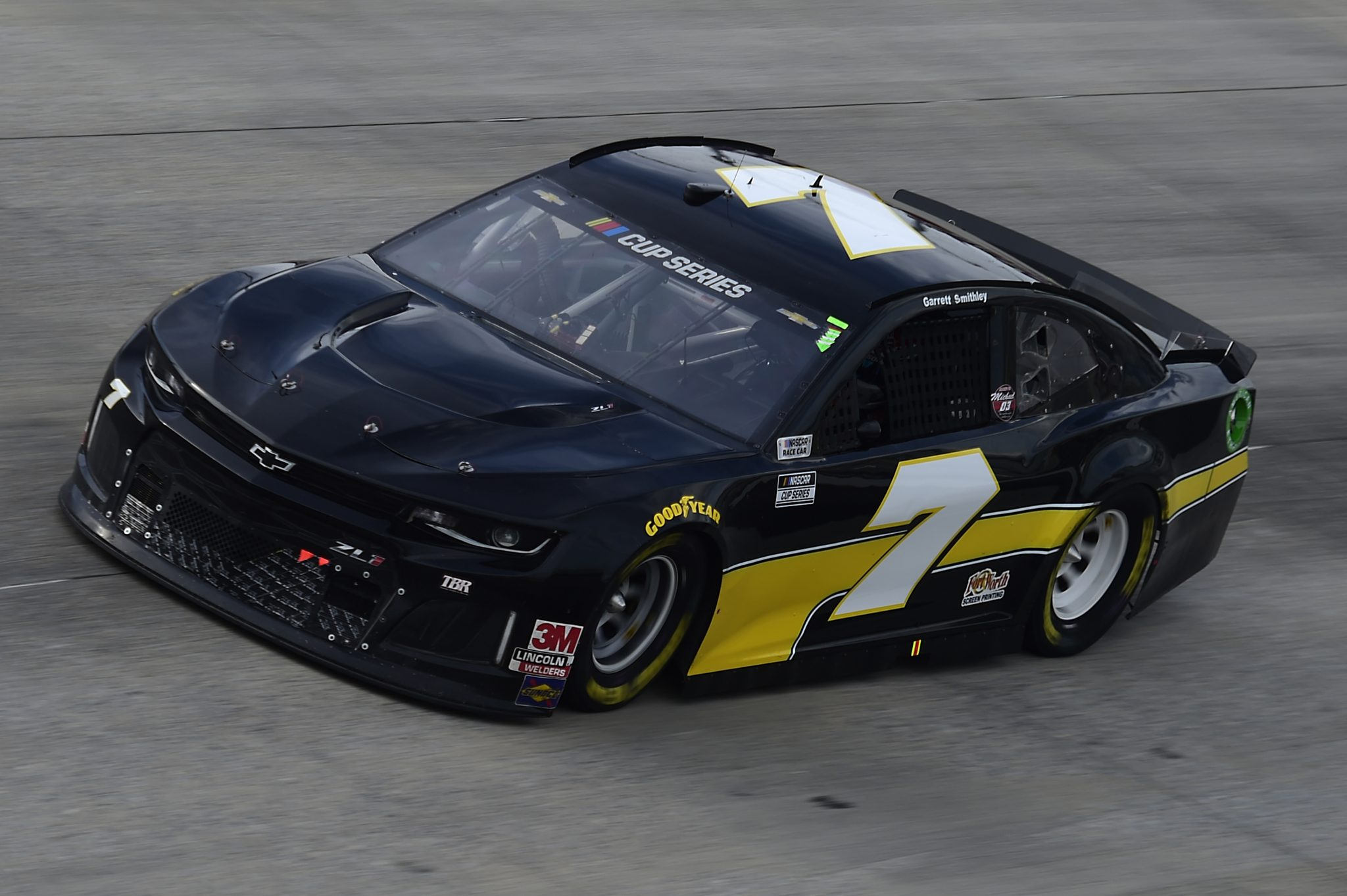 DOVER, DELAWARE - AUGUST 22: Garrett Smithley, driver of the #7 Chevrolet, drives during the NASCAR Cup Series Drydene 311 at Dover International Speedway on August 22, 2020 in Dover, Delaware. (Photo by Jared C. Tilton/Getty Images) | Getty Images