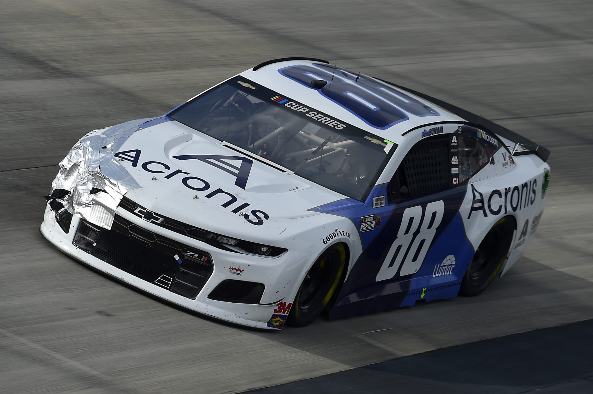 DOVER, DELAWARE - AUGUST 22: Alex Bowman, driver of the #88 Acronis Chevrolet, drives during the NASCAR Cup Series Drydene 311 at Dover International Speedway on August 22, 2020 in Dover, Delaware. (Photo by Jared C. Tilton/Getty Images) | Getty Images