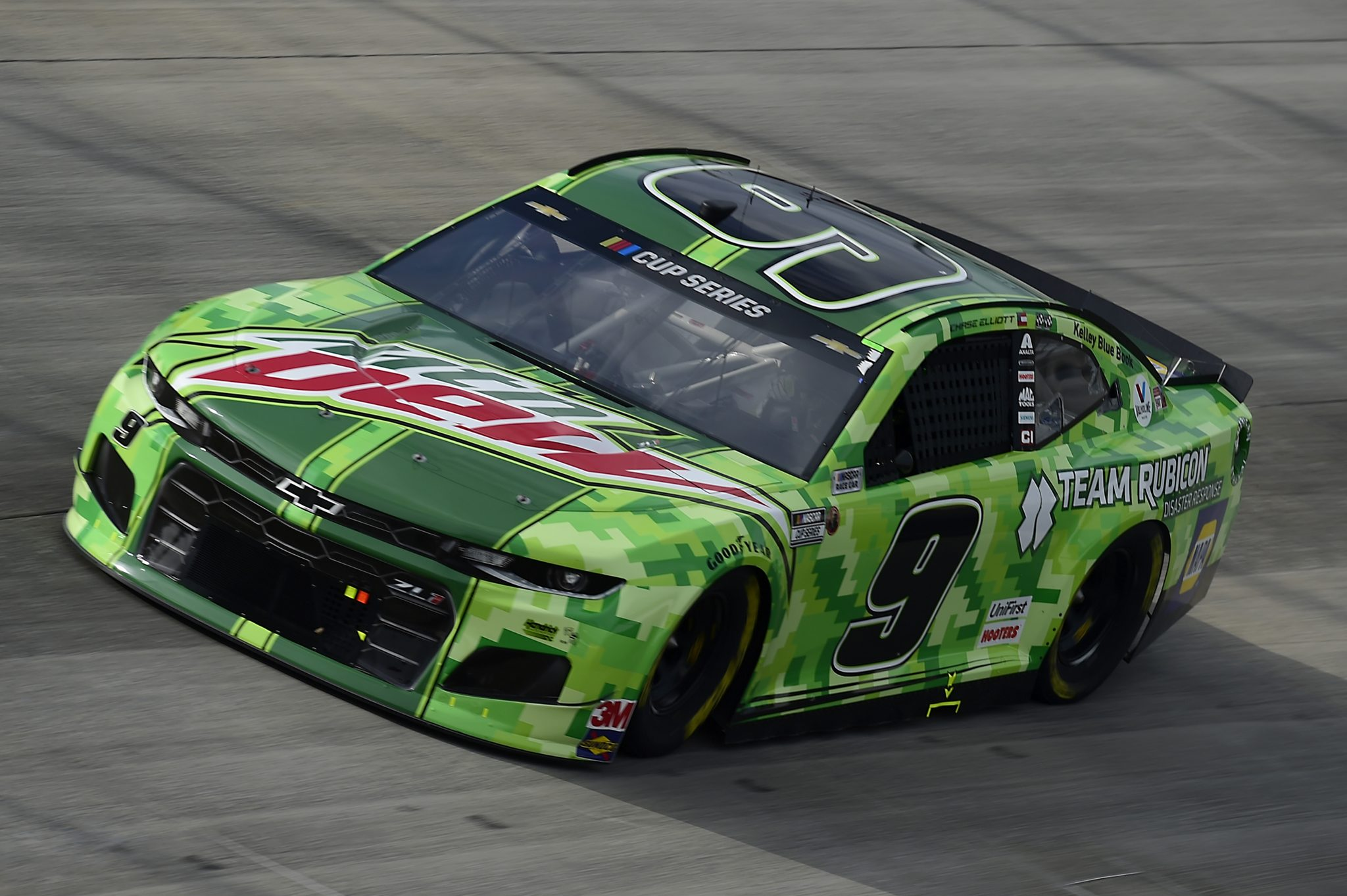 DOVER, DELAWARE - AUGUST 22: Chase Elliott, driver of the #9 Mountain Dew/Team Rubicon Chevrolet, drives during the NASCAR Cup Series Drydene 311 at Dover International Speedway on August 22, 2020 in Dover, Delaware. (Photo by Jared C. Tilton/Getty Images) | Getty Images