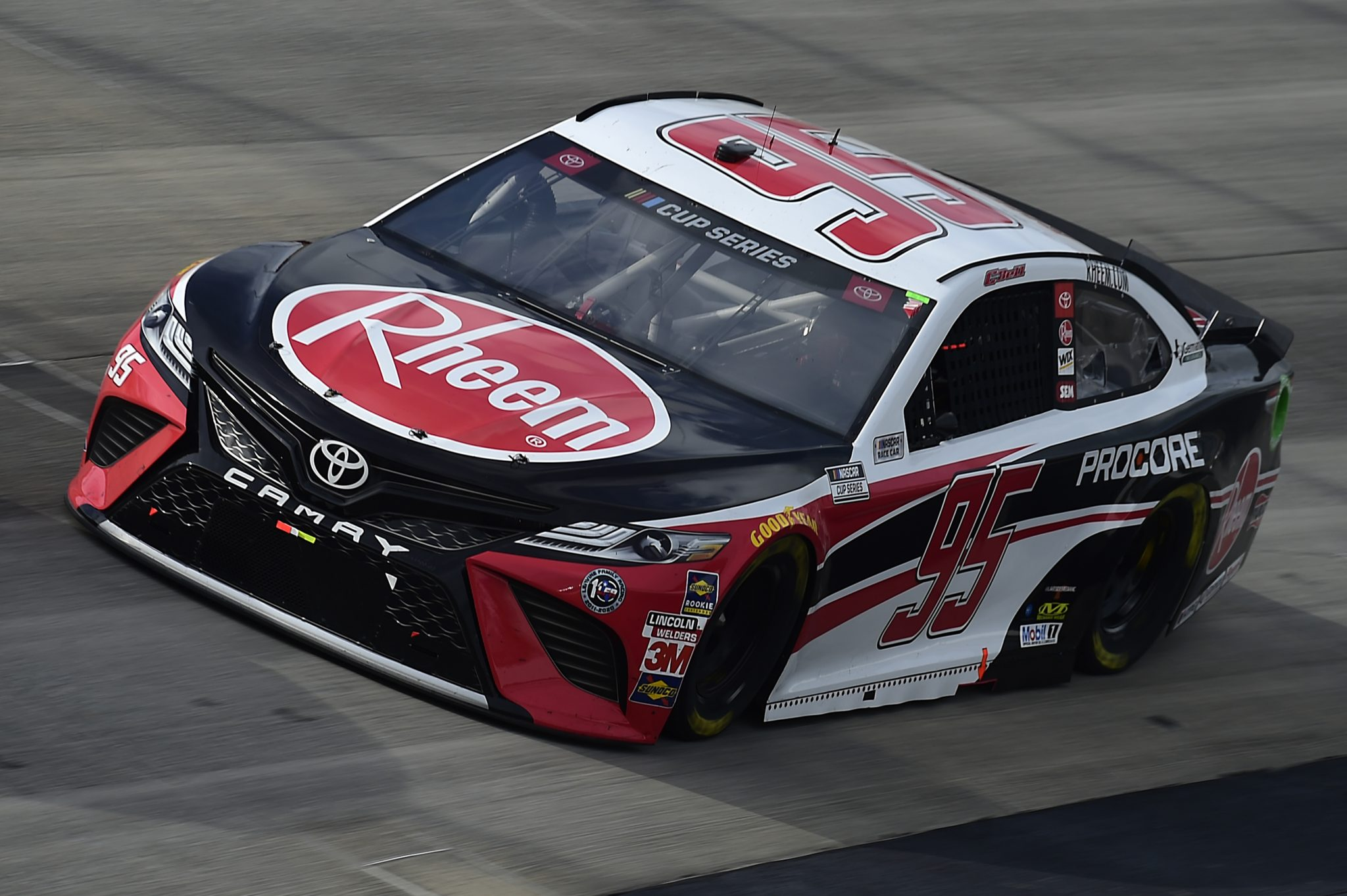 DOVER, DELAWARE - AUGUST 22: Christopher Bell, driver of the #95 Rheem Toyota, drives during the NASCAR Cup Series Drydene 311 at Dover International Speedway on August 22, 2020 in Dover, Delaware. (Photo by Jared C. Tilton/Getty Images) | Getty Images