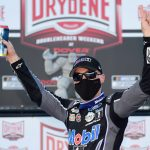DOVER, DELAWARE - AUGUST 23: Kevin Harvick, driver of the #4 Mobil 1 Ford, celebrates in Victory Lane after winning the NASCAR Cup Series Drydene 311 at Dover International Speedway on August 23, 2020 in Dover, Delaware. (Photo by Jared C. Tilton/Getty Images) | Getty Images