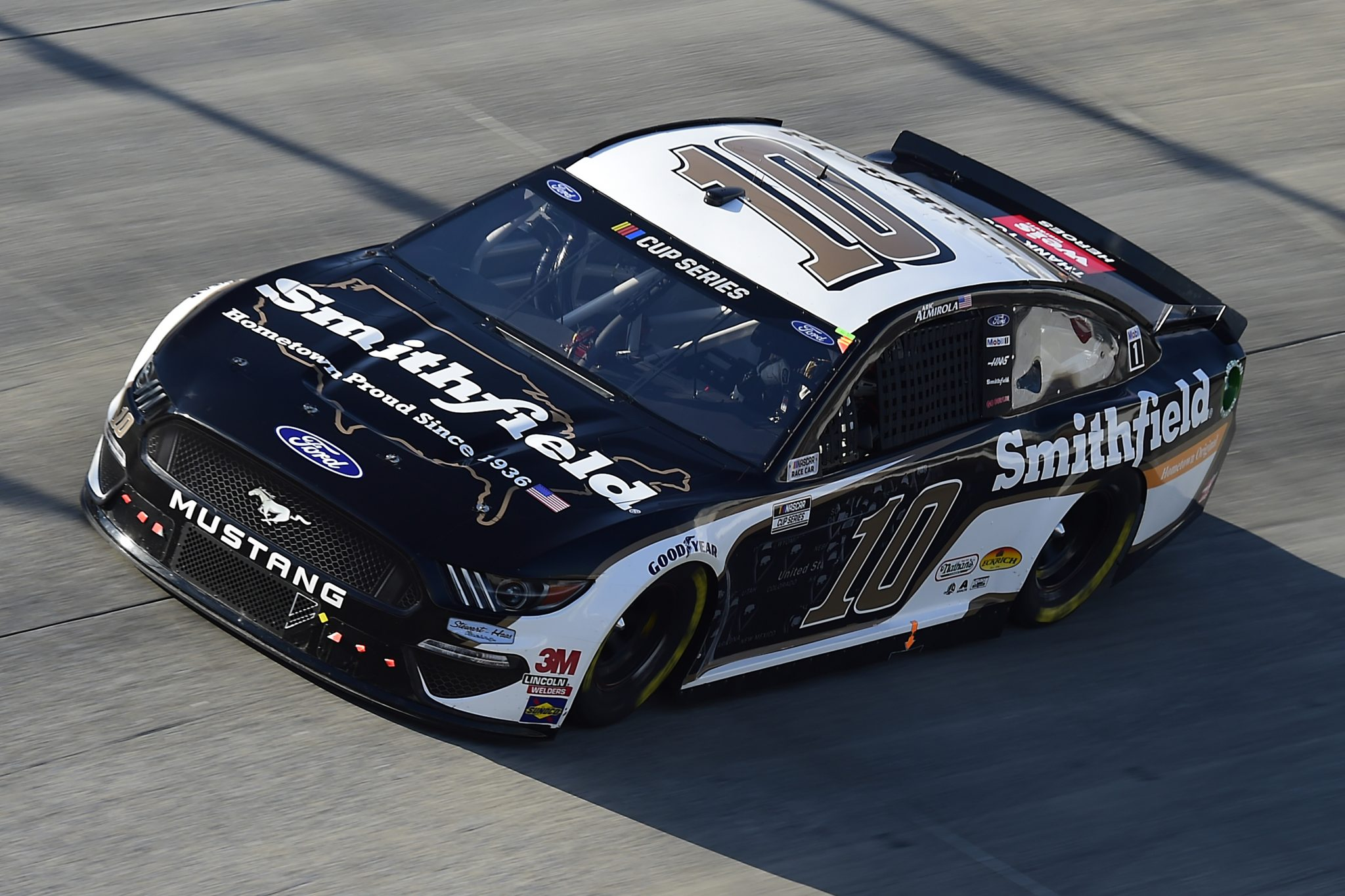 DOVER, DELAWARE - AUGUST 23: Aric Almirola, driver of the #10 Smithfield Hometown Original Ford, drives during the NASCAR Cup Series Drydene 311 at Dover International Speedway on August 23, 2020 in Dover, Delaware. (Photo by Jared C. Tilton/Getty Images) | Getty Images