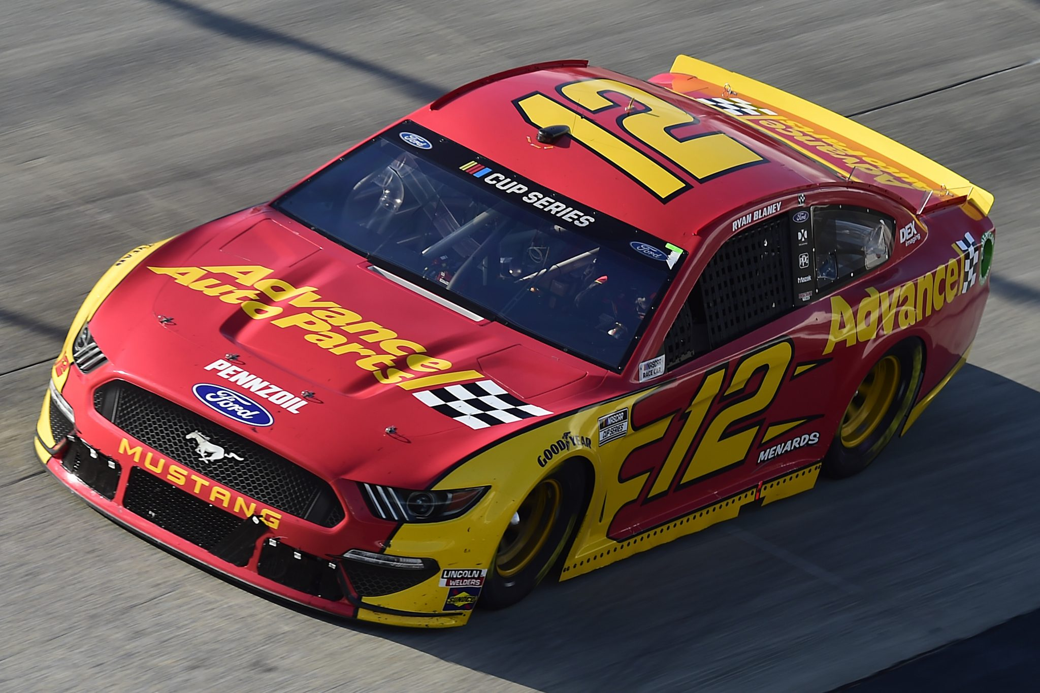 DOVER, DELAWARE - AUGUST 23: Ryan Blaney, driver of the #12 Advance Auto Parts Ford, drives during the NASCAR Cup Series Drydene 311 at Dover International Speedway on August 23, 2020 in Dover, Delaware. (Photo by Jared C. Tilton/Getty Images) | Getty Images
