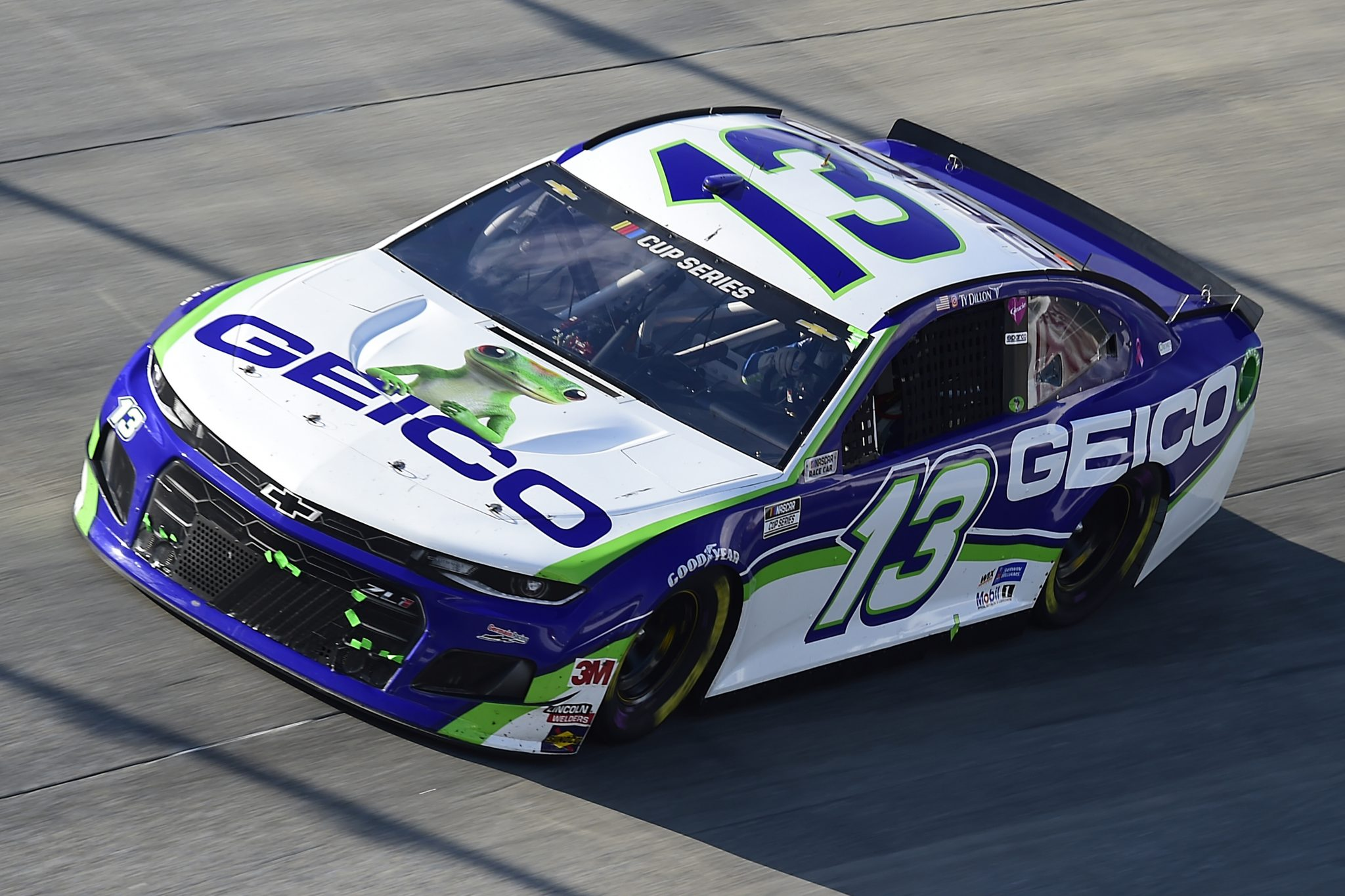 DOVER, DELAWARE - AUGUST 23: Ty Dillon, driver of the #13 GEICO Chevrolet, drives during the NASCAR Cup Series Drydene 311 at Dover International Speedway on August 23, 2020 in Dover, Delaware. (Photo by Jared C. Tilton/Getty Images) | Getty Images