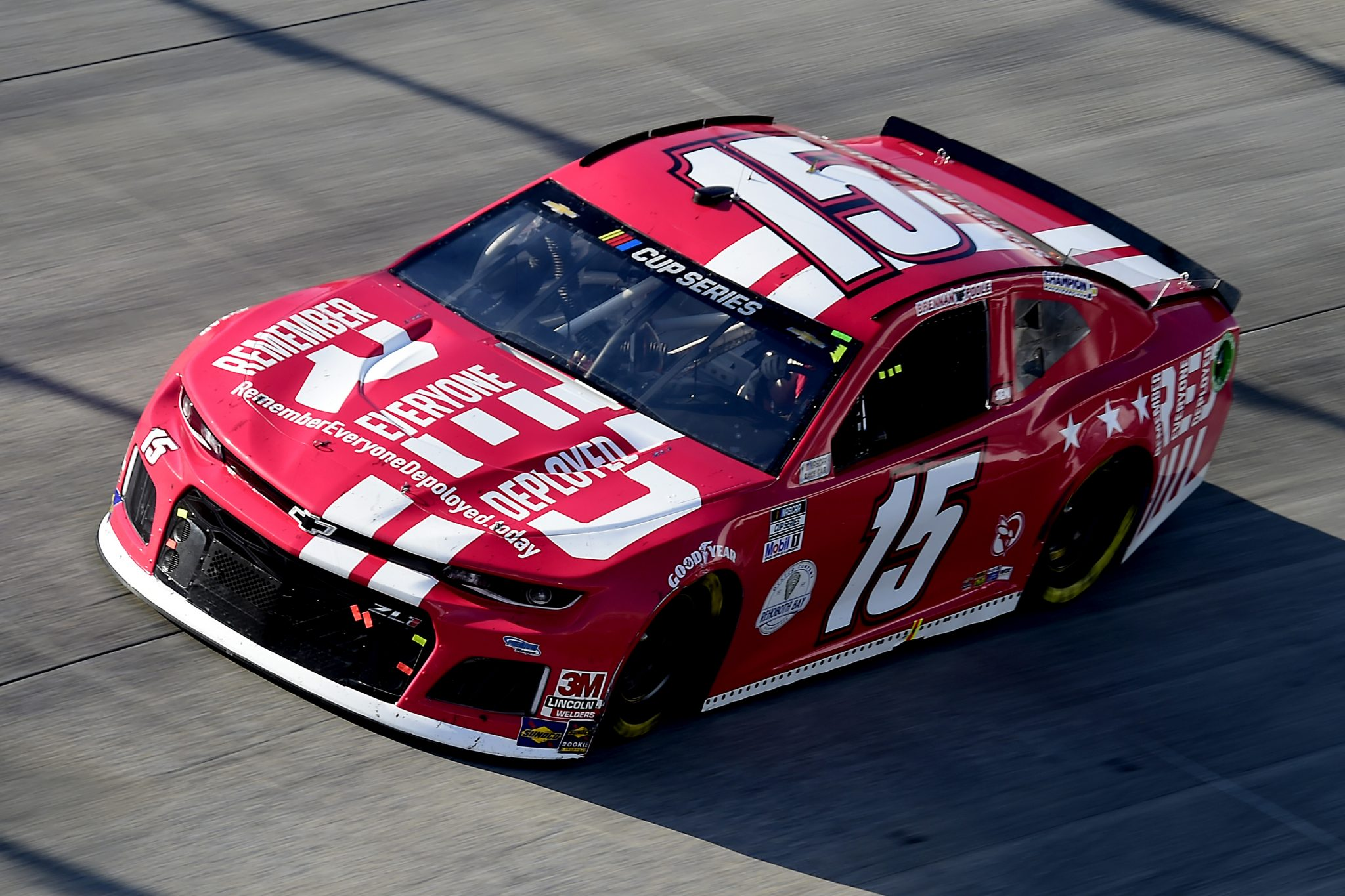 DOVER, DELAWARE - AUGUST 23: Brennan Poole, driver of the #15 RememberEveryoneDeployed. Today Chevrolet, drives during the NASCAR Cup Series Drydene 311 at Dover International Speedway on August 23, 2020 in Dover, Delaware. (Photo by Jared C. Tilton/Getty Images) | Getty Images