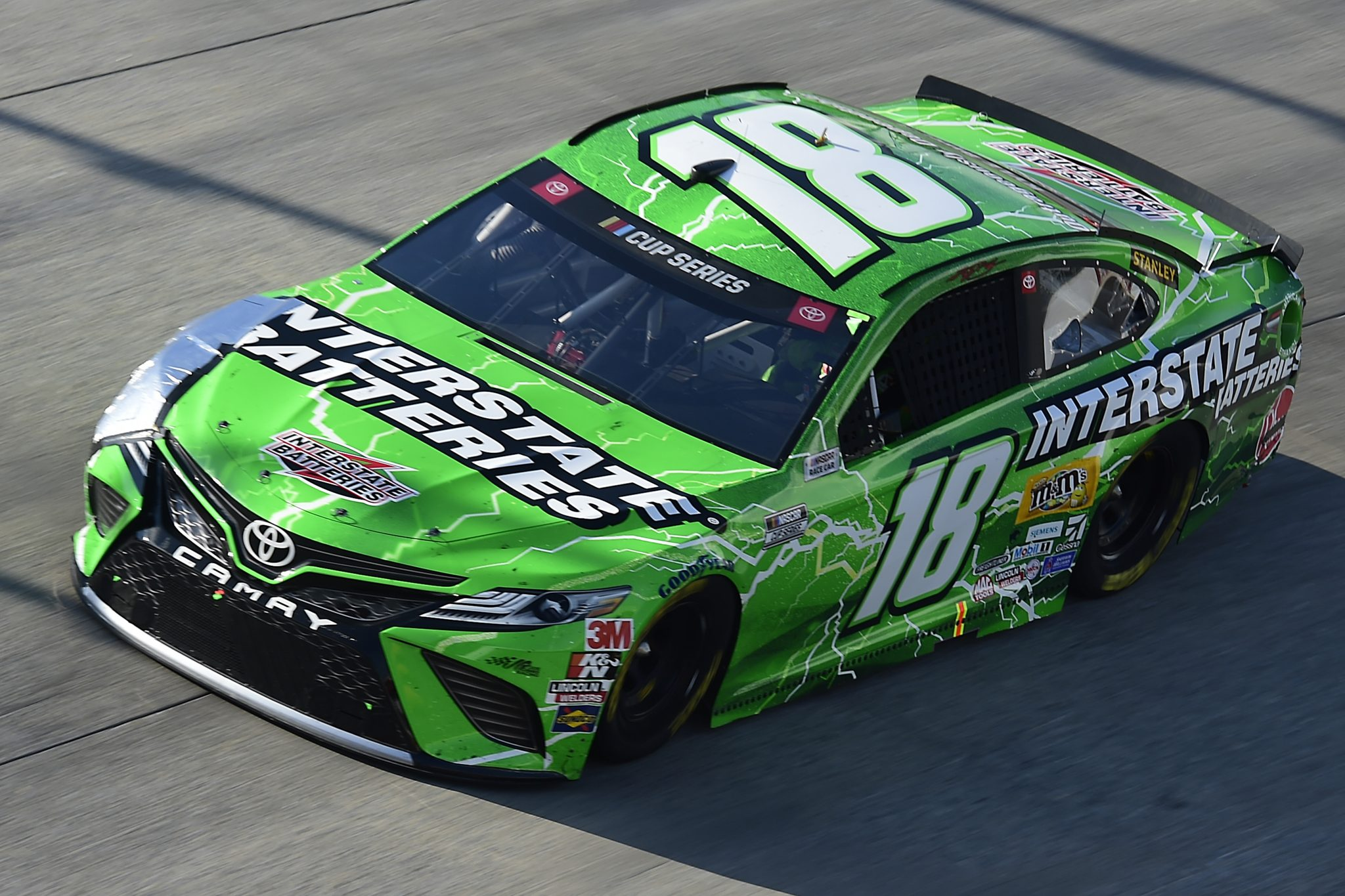 DOVER, DELAWARE - AUGUST 23: Kyle Busch, driver of the #18 Interstate Batteries Toyota, drives during the NASCAR Cup Series Drydene 311 at Dover International Speedway on August 23, 2020 in Dover, Delaware. (Photo by Jared C. Tilton/Getty Images) | Getty Images