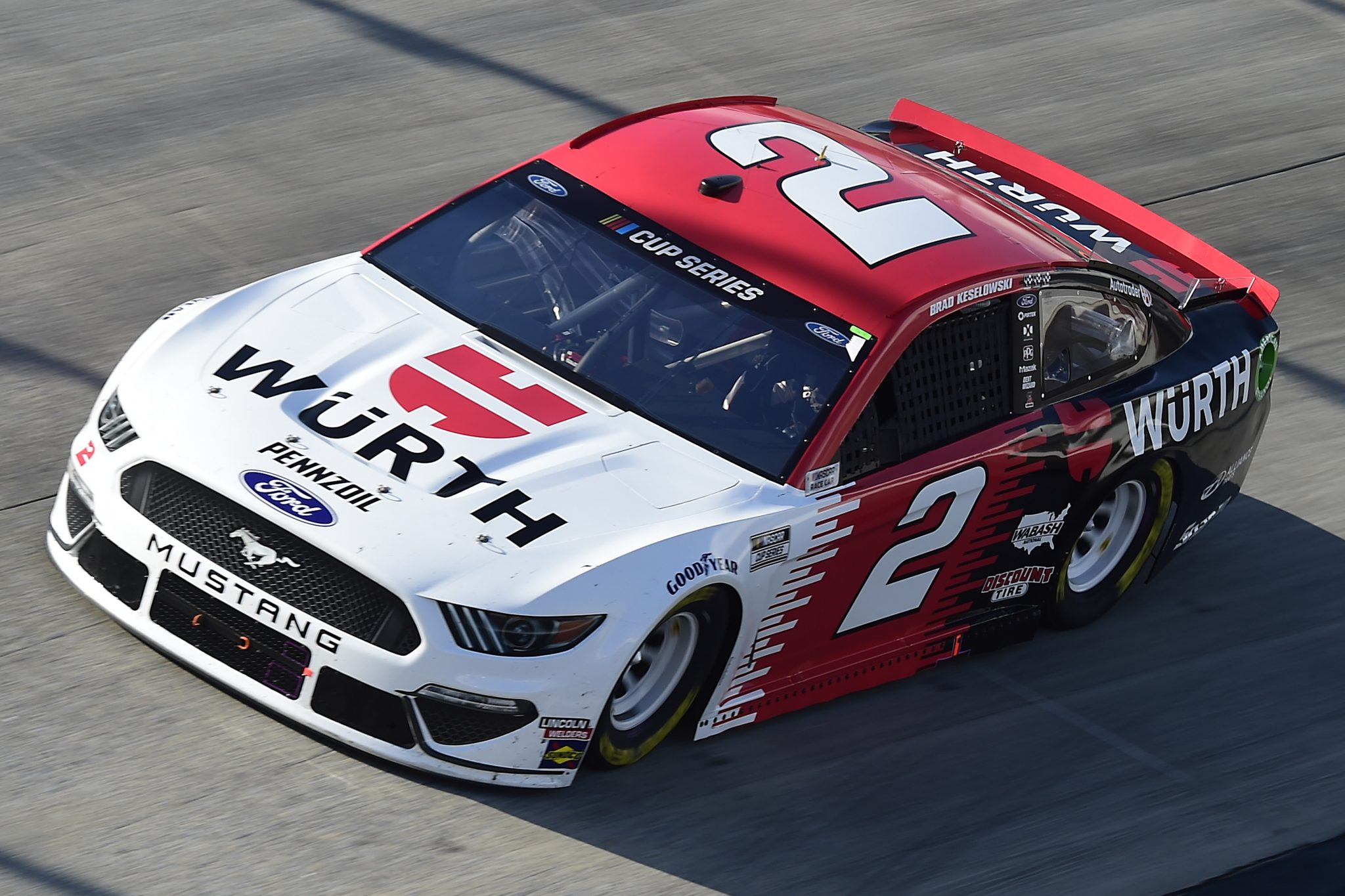 DOVER, DELAWARE - AUGUST 23: Brad Keselowski, driver of the #2 Wurth Ford, drives during the NASCAR Cup Series Drydene 311 at Dover International Speedway on August 23, 2020 in Dover, Delaware. (Photo by Jared C. Tilton/Getty Images) | Getty Images