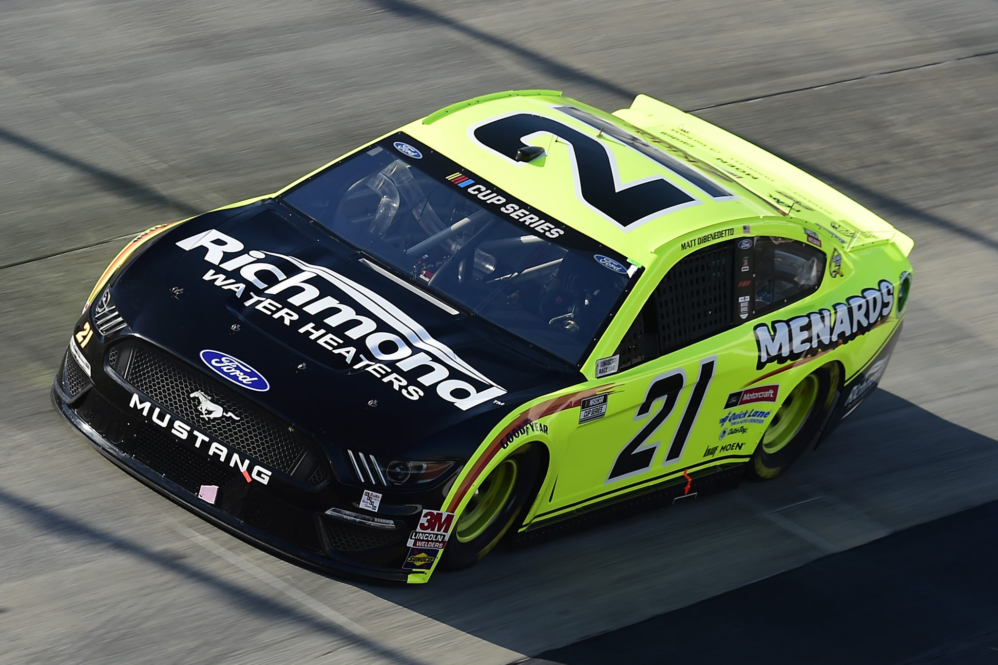 DOVER, DELAWARE - AUGUST 23: Matt DiBenedetto, driver of the #21 Menards/Monster Energy Ford, drives during the NASCAR Cup Series Drydene 311 at Dover International Speedway on August 23, 2020 in Dover, Delaware. (Photo by Jared C. Tilton/Getty Images) | Getty Images