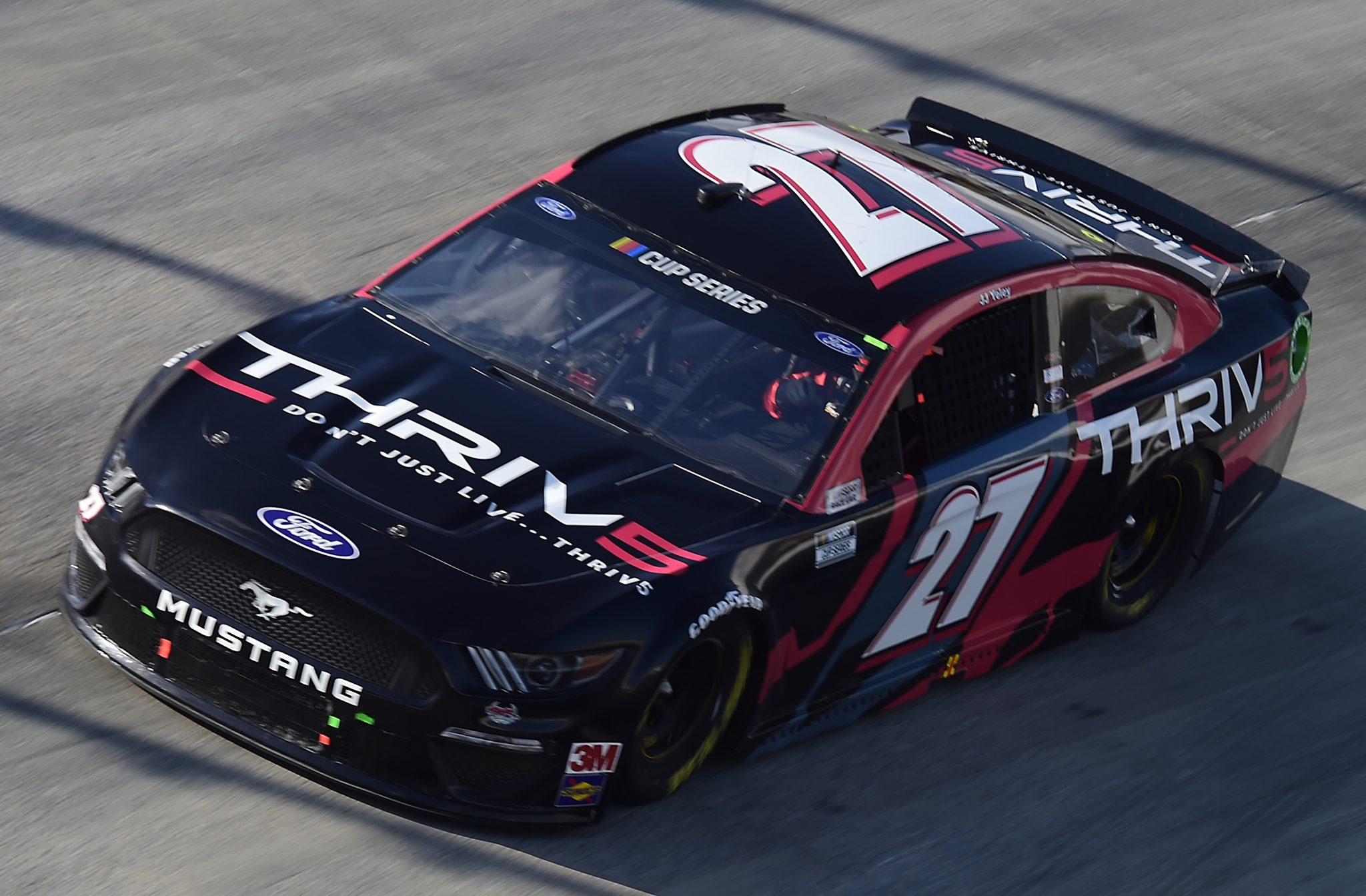 DOVER, DELAWARE - AUGUST 23: JJ Yeley, driver of the #27 Thriv5 Ford, drives during the NASCAR Cup Series Drydene 311 at Dover International Speedway on August 23, 2020 in Dover, Delaware. (Photo by Jared C. Tilton/Getty Images) | Getty Images