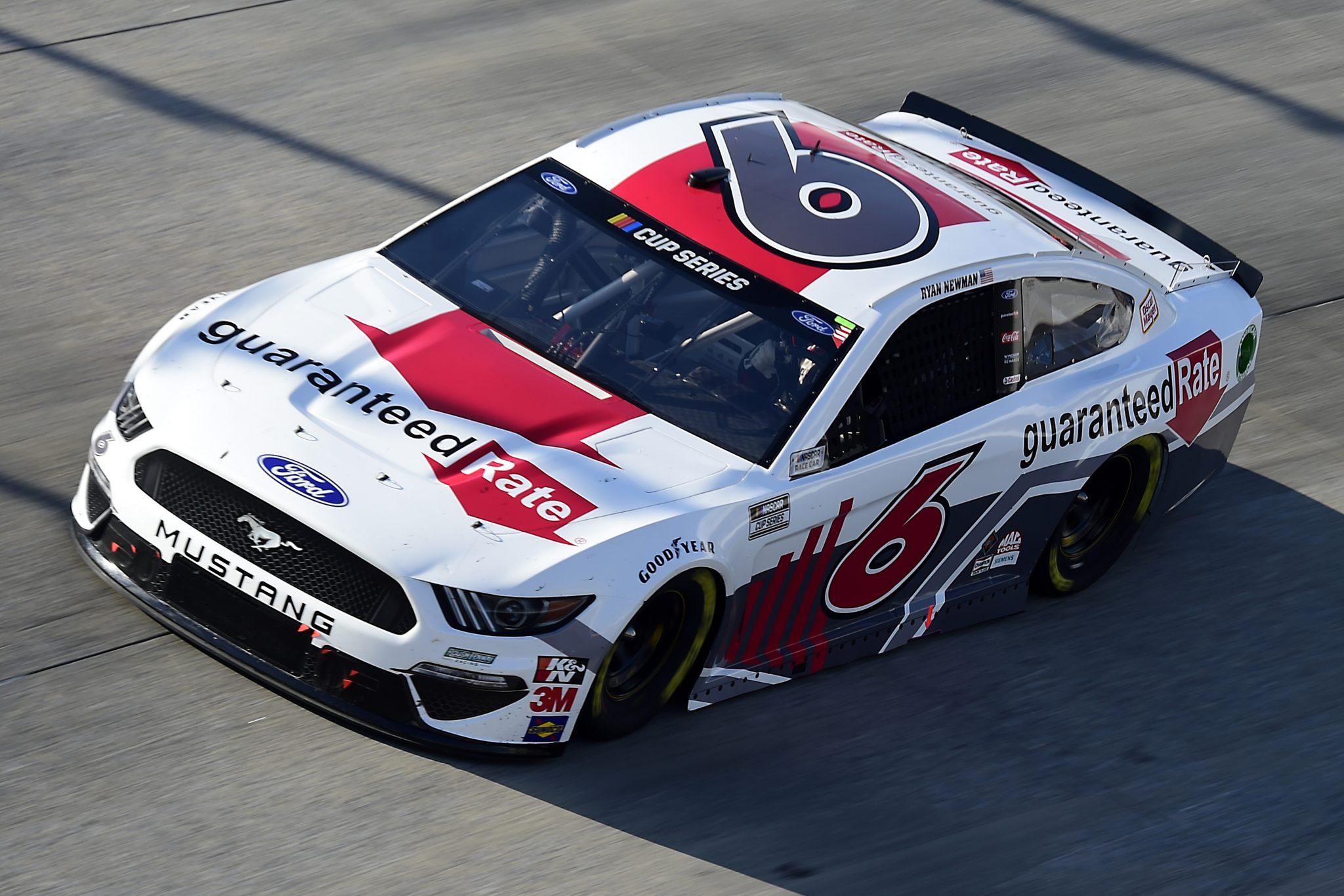 DOVER, DELAWARE - AUGUST 23: Ryan Newman, driver of the #6 Guaranteed Rate Ford, drives during the NASCAR Cup Series Drydene 311 at Dover International Speedway on August 23, 2020 in Dover, Delaware. (Photo by Jared C. Tilton/Getty Images) | Getty Images