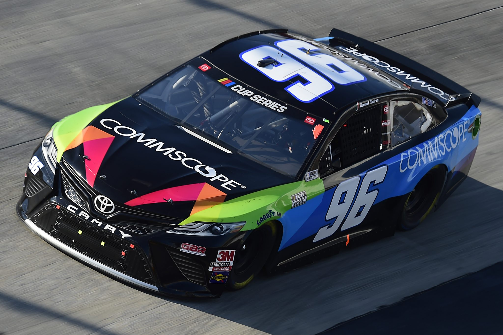 DOVER, DELAWARE - AUGUST 23: Daniel Suarez, driver of the #96 CommScope Toyota, drives during the NASCAR Cup Series Drydene 311 at Dover International Speedway on August 23, 2020 in Dover, Delaware. (Photo by Jared C. Tilton/Getty Images) | Getty Images