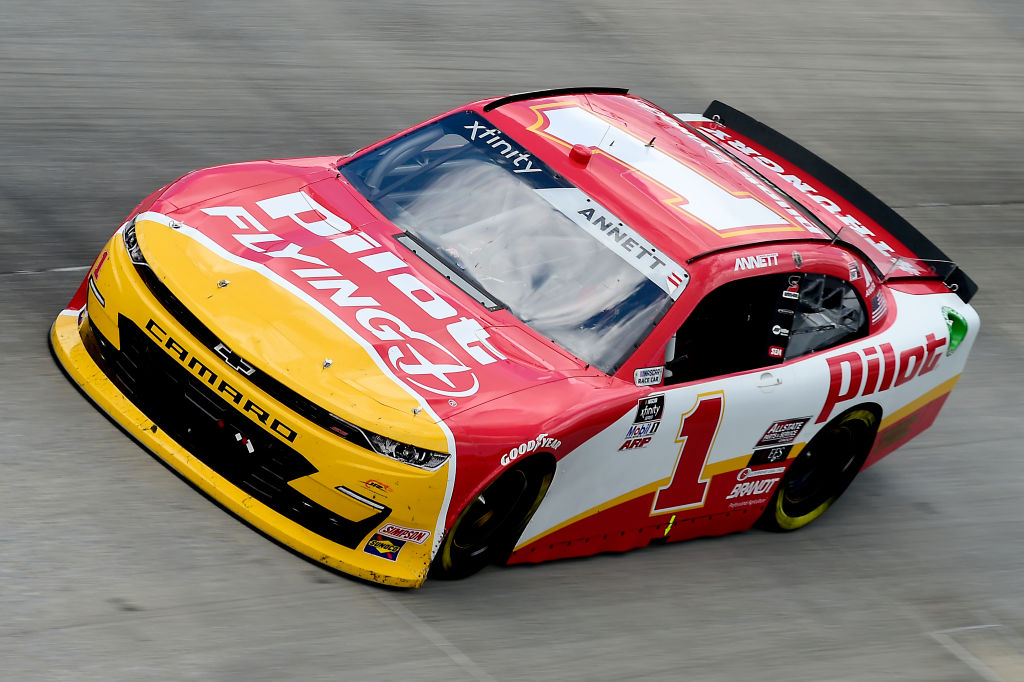 DOVER, DELAWARE - AUGUST 23: Michael Annett, driver of the #1 Pilot/Flying J Chevrolet, drives during the NASCAR Xfinity Series Drydene 200 at Dover International Speedway on August 23, 2020 in Dover, Delaware. (Photo by Jared C. Tilton/Getty Images) | Getty Images