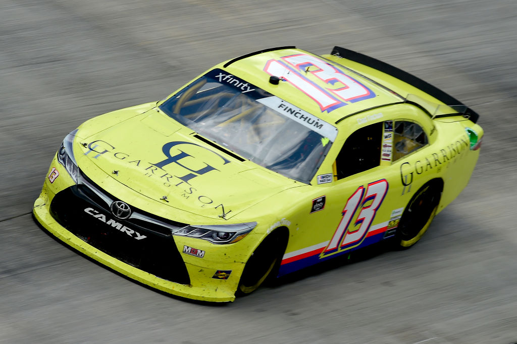 DOVER, DELAWARE - AUGUST 23: Chad Finchum, driver of the #13 GARRISON HOMES Toyota, drives during the NASCAR Xfinity Series Drydene 200 at Dover International Speedway on August 23, 2020 in Dover, Delaware. (Photo by Jared C. Tilton/Getty Images) | Getty Images