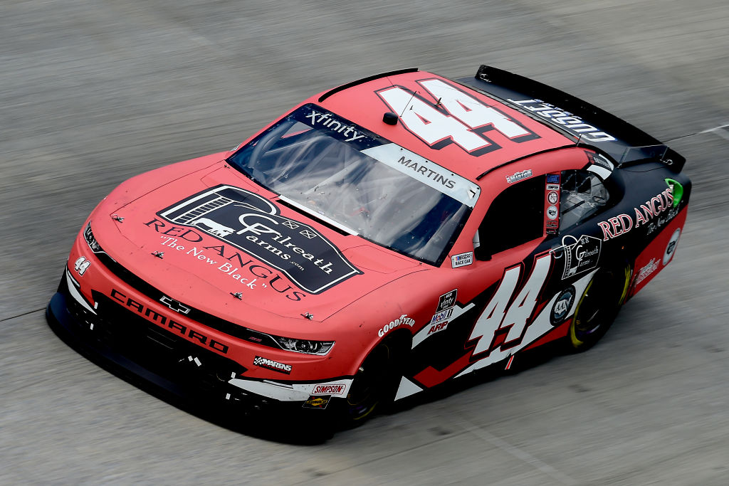 DOVER, DELAWARE - AUGUST 23: Tommy Joe Martins, driver of the #44 Gilreath Farms Red Angus Chevrolet, drives during the NASCAR Xfinity Series Drydene 200 at Dover International Speedway on August 23, 2020 in Dover, Delaware. (Photo by Jared C. Tilton/Getty Images) | Getty Images