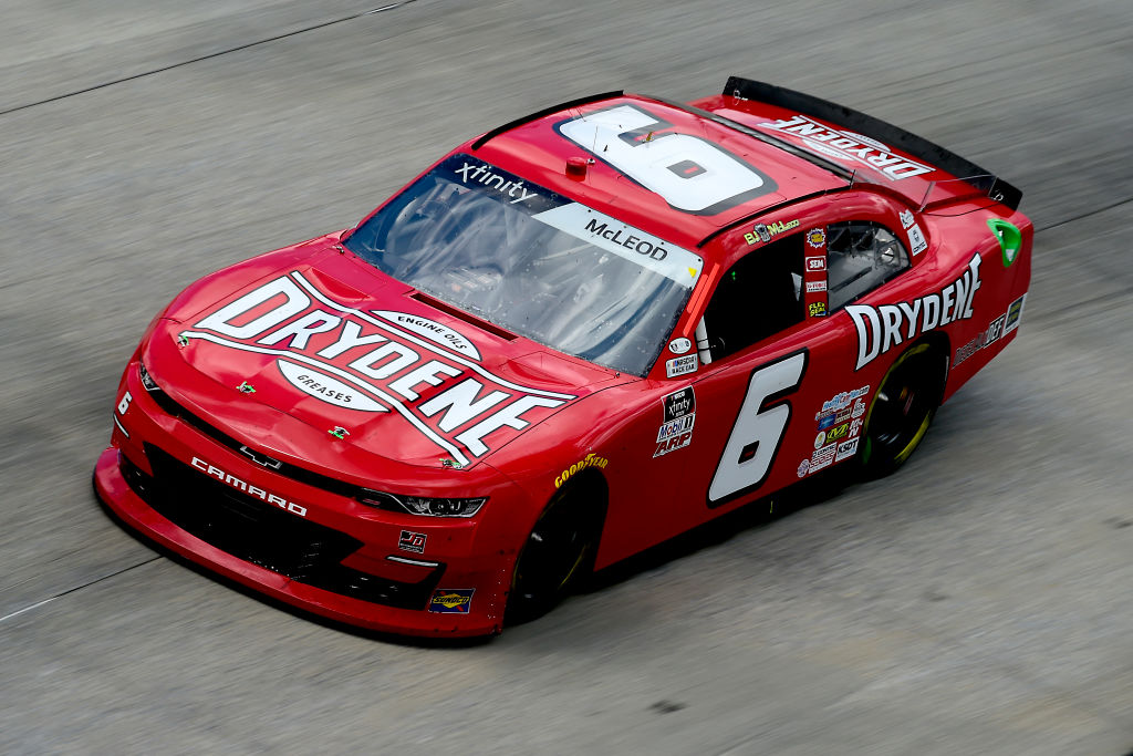 DOVER, DELAWARE - AUGUST 23: BJ McLeod, driver of the #6 Drydene Chevrolet, drives during the NASCAR Xfinity Series Drydene 200 at Dover International Speedway on August 23, 2020 in Dover, Delaware. (Photo by Jared C. Tilton/Getty Images) | Getty Images