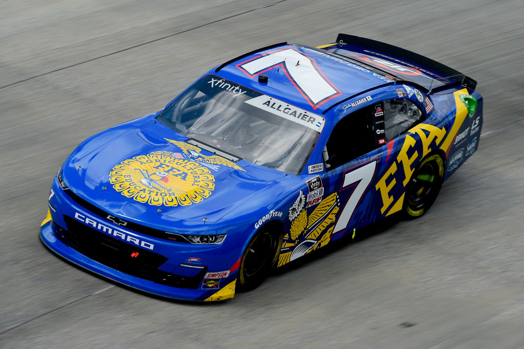 DOVER, DELAWARE - AUGUST 23: Justin Allgaier, driver of the #7 FFA Chevrolet, drives during the NASCAR Xfinity Series Drydene 200 at Dover International Speedway on August 23, 2020 in Dover, Delaware. (Photo by Jared C. Tilton/Getty Images) | Getty Images