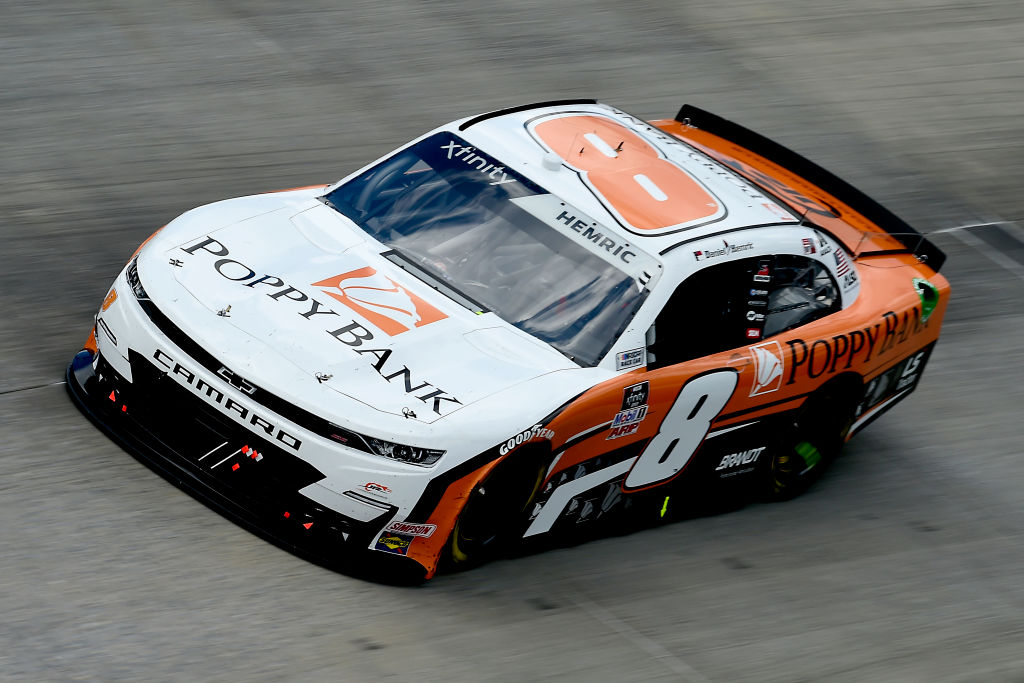 DOVER, DELAWARE - AUGUST 23: Daniel Hemric, driver of the #8 Poppy Bank Chevrolet, drives during the NASCAR Xfinity Series Drydene 200 at Dover International Speedway on August 23, 2020 in Dover, Delaware. (Photo by Jared C. Tilton/Getty Images) | Getty Images