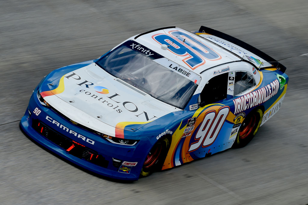 DOVER, DELAWARE - AUGUST 23: Alex Labbe, driver of the #90 Prolon/VRVictoriaVille.com Chevrolet, drives during the NASCAR Xfinity Series Drydene 200 at Dover International Speedway on August 23, 2020 in Dover, Delaware. (Photo by Jared C. Tilton/Getty Images) | Getty Images