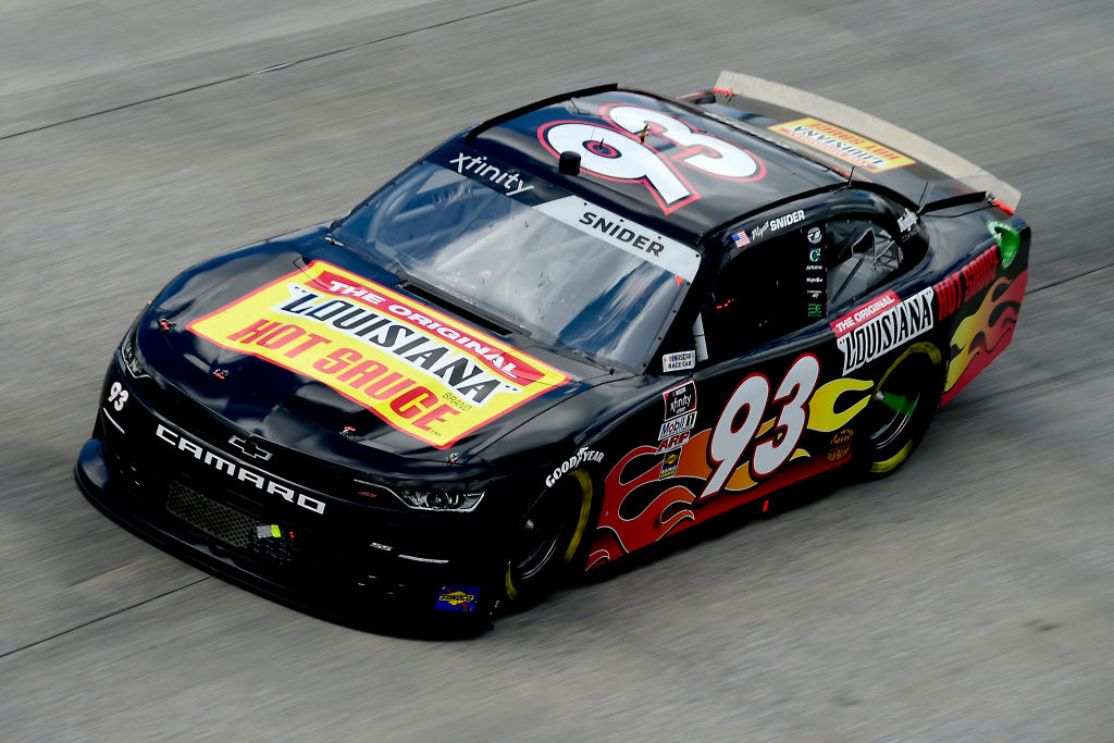 DOVER, DELAWARE - AUGUST 23: Myatt Snider, driver of the #93 The Original Louisiana Hot Sauce Chevrolet, drives during the NASCAR Xfinity Series Drydene 200 at Dover International Speedway on August 23, 2020 in Dover, Delaware. (Photo by Jared C. Tilton/Getty Images) | Getty Images