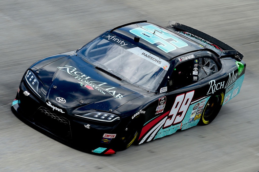 DOVER, DELAWARE - AUGUST 23: Stefan Parsons, driver of the #99 Rich Mar Florist Toyota, drives during the NASCAR Xfinity Series Drydene 200 at Dover International Speedway on August 23, 2020 in Dover, Delaware. (Photo by Jared C. Tilton/Getty Images) | Getty Images