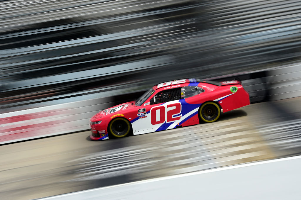 DOVER, DELAWARE - AUGUST 22: Brett Moffitt, driver of the #02 Robert B Our Inc Chevrolet, drives during the NASCAR Xfinity Series Drydene 200 at Dover International Speedway on August 22, 2020 in Dover, Delaware. (Photo by Jared C. Tilton/Getty Images) | Getty Images