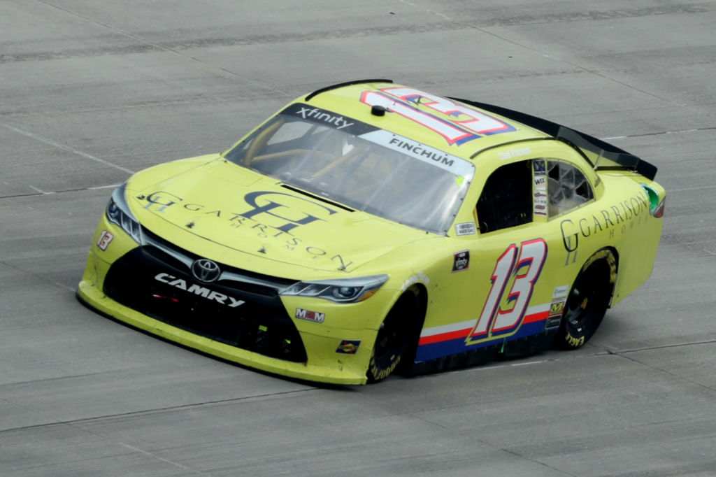 DOVER, DELAWARE - AUGUST 22: Chad Finchum, driver of the #13 GARRISON HOMES Toyota, drives during the NASCAR Xfinity Series Drydene 200 at Dover International Speedway on August 22, 2020 in Dover, Delaware. (Photo by Hunter Martin/Getty Images) | Getty Images