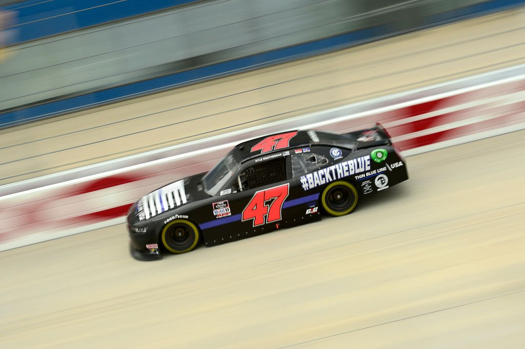 DOVER, DELAWARE - AUGUST 22: Kyle Weatherman, driver of the #47 Thin Blue Line USA Chevrolet, drives during the NASCAR Xfinity Series Drydene 200 at Dover International Speedway on August 22, 2020 in Dover, Delaware. (Photo by Jared C. Tilton/Getty Images) | Getty Images