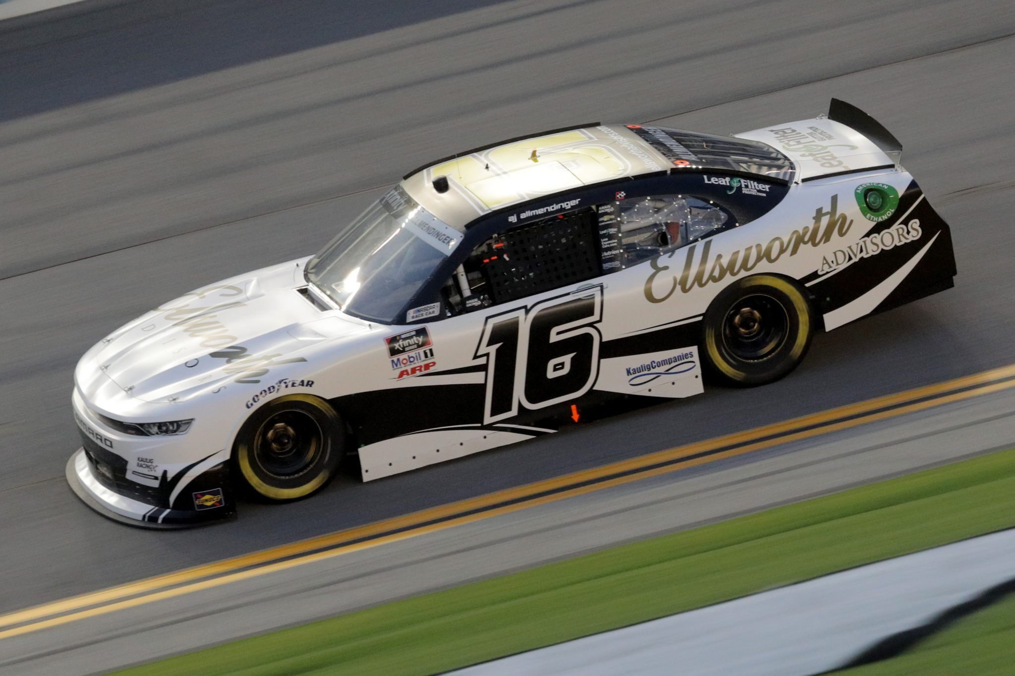 DAYTONA BEACH, FLORIDA - AUGUST 28: AJ Allmendinger, driver of the #16 Chevrolet, drives during the NASCAR Xfinity Series Wawa 250 Powered by Coca-Cola at Daytona International Speedway on August 28, 2020 in Daytona Beach, Florida. (Photo by Chris Graythen/Getty Images) | Getty Images