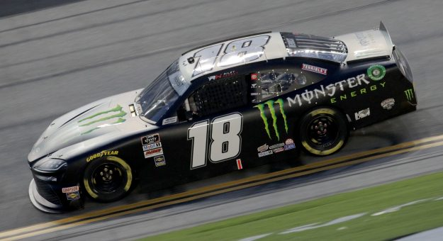 DAYTONA BEACH, FLORIDA - AUGUST 28: Riley Herbst, driver of the #18 Monster Energy Toyota, drives during the NASCAR Xfinity Series Wawa 250 Powered by Coca-Cola at Daytona International Speedway on August 28, 2020 in Daytona Beach, Florida. (Photo by Chris Graythen/Getty Images) | Getty Images