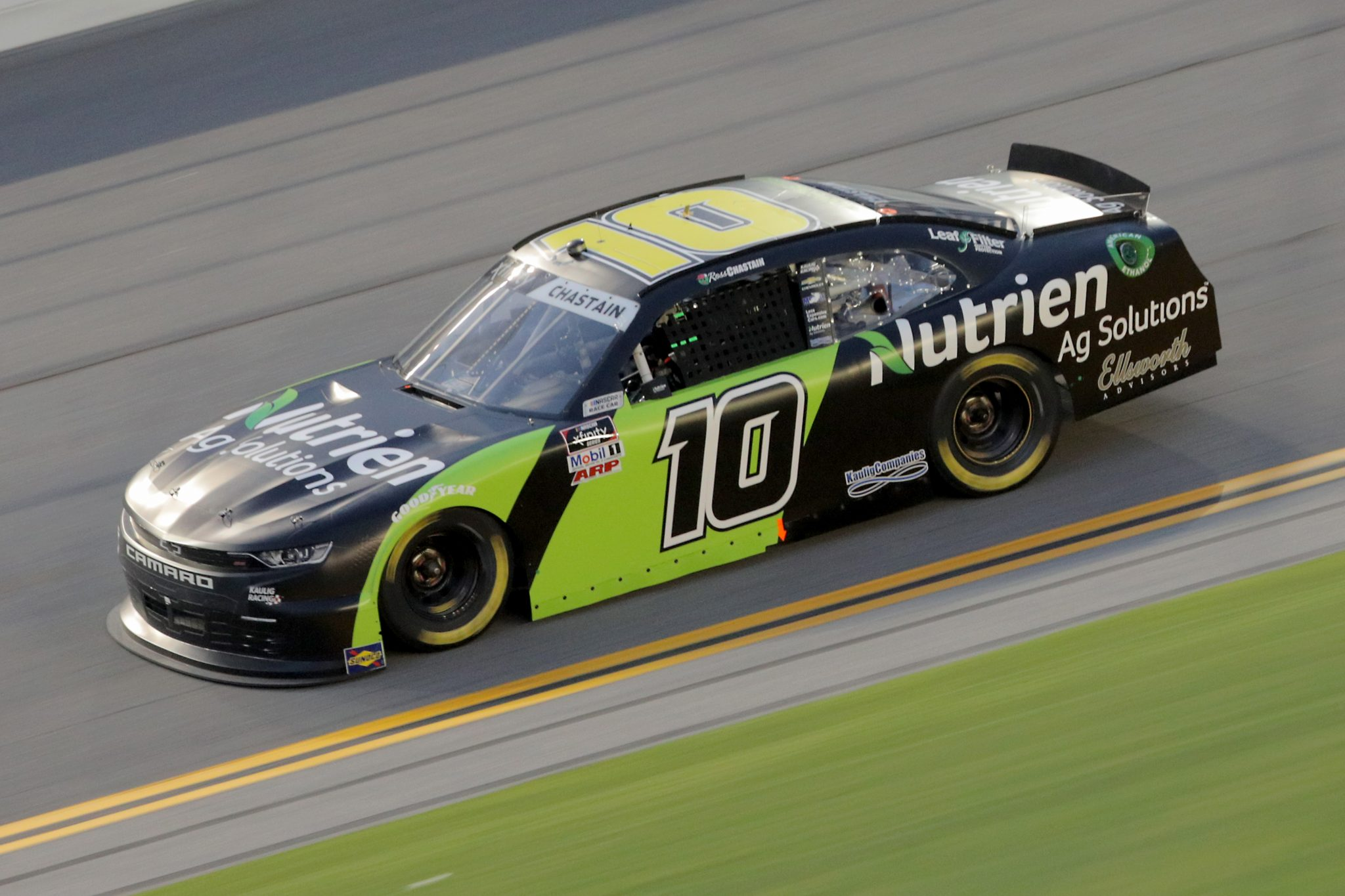 DAYTONA BEACH, FLORIDA - AUGUST 28: Ross Chastain, driver of the #10 Nutrien Ag Solutions Chevrolet, drives during the NASCAR Xfinity Series Wawa 250 Powered by Coca-Cola at Daytona International Speedway on August 28, 2020 in Daytona Beach, Florida. (Photo by Chris Graythen/Getty Images) | Getty Images