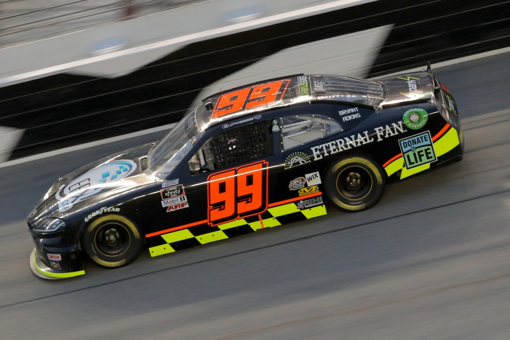 DAYTONA BEACH, FLORIDA - AUGUST 28: Joey Gase, driver of the #99 EFX Corp/Eternal Fan Toyota, drives during the NASCAR Xfinity Series Wawa 250 Powered by Coca-Cola at Daytona International Speedway on August 28, 2020 in Daytona Beach, Florida. (Photo by Chris Graythen/Getty Images) | Getty Images