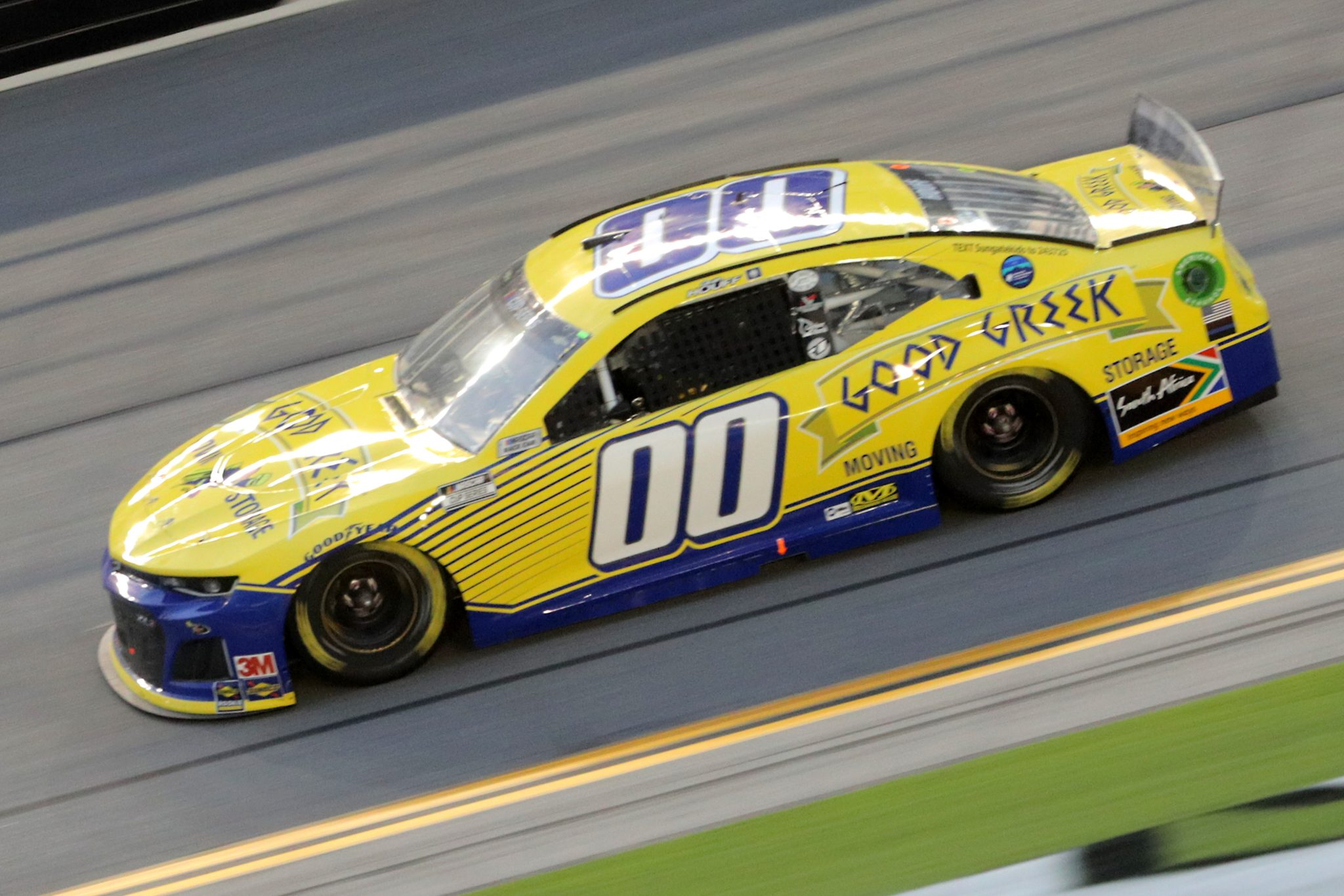 DAYTONA BEACH, FLORIDA - AUGUST 29: Quin Houff, driver of the #00 Good Greek Movers Chevrolet, drives during the NASCAR Cup Series Coke Zero Sugar 400 at Daytona International Speedway on August 29, 2020 in Daytona Beach, Florida. (Photo by Chris Graythen/Getty Images) | Getty Images
