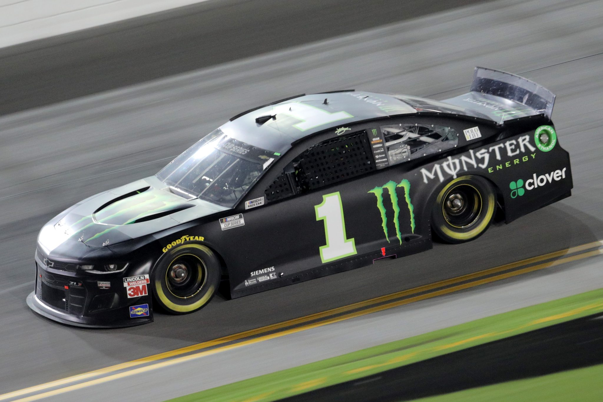 DAYTONA BEACH, FLORIDA - AUGUST 29: Kurt Busch, driver of the #1 Monster Energy Chevrolet, races during the NASCAR Cup Series Coke Zero Sugar 400 at Daytona International Speedway on August 29, 2020 in Daytona Beach, Florida. (Photo by Chris Graythen/Getty Images) | Getty Images