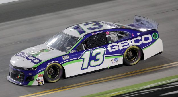DAYTONA BEACH, FLORIDA - AUGUST 29: Ty Dillon, driver of the #13 GEICO Chevrolet, races during the NASCAR Cup Series Coke Zero Sugar 400 at Daytona International Speedway on August 29, 2020 in Daytona Beach, Florida. (Photo by Chris Graythen/Getty Images) | Getty Images