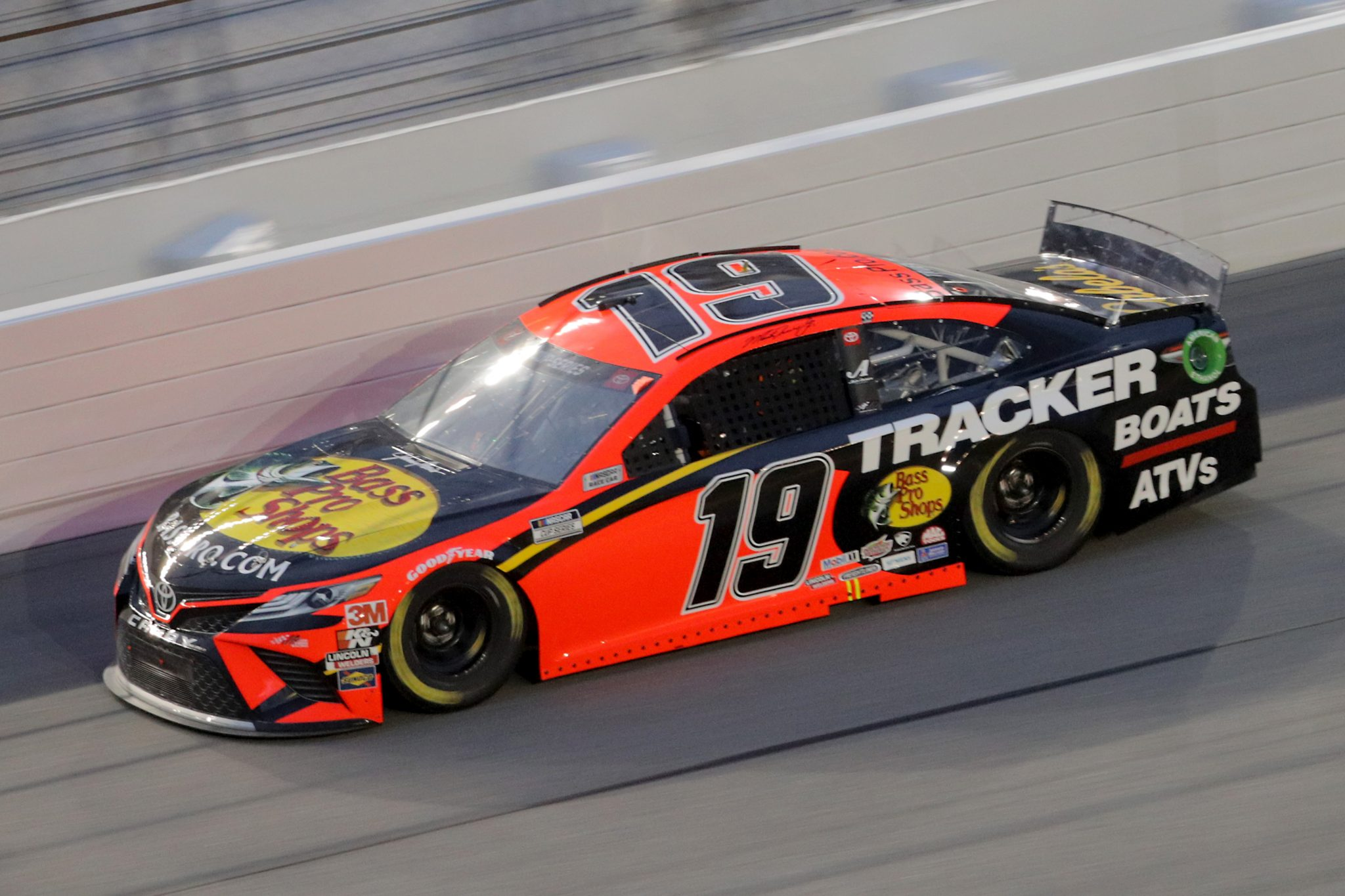 DAYTONA BEACH, FLORIDA - AUGUST 29: Martin Truex Jr., driver of the #19 Bass Pro Shops Toyota, drives during the NASCAR Cup Series Coke Zero Sugar 400 at Daytona International Speedway on August 29, 2020 in Daytona Beach, Florida. (Photo by Chris Graythen/Getty Images)   Getty Images