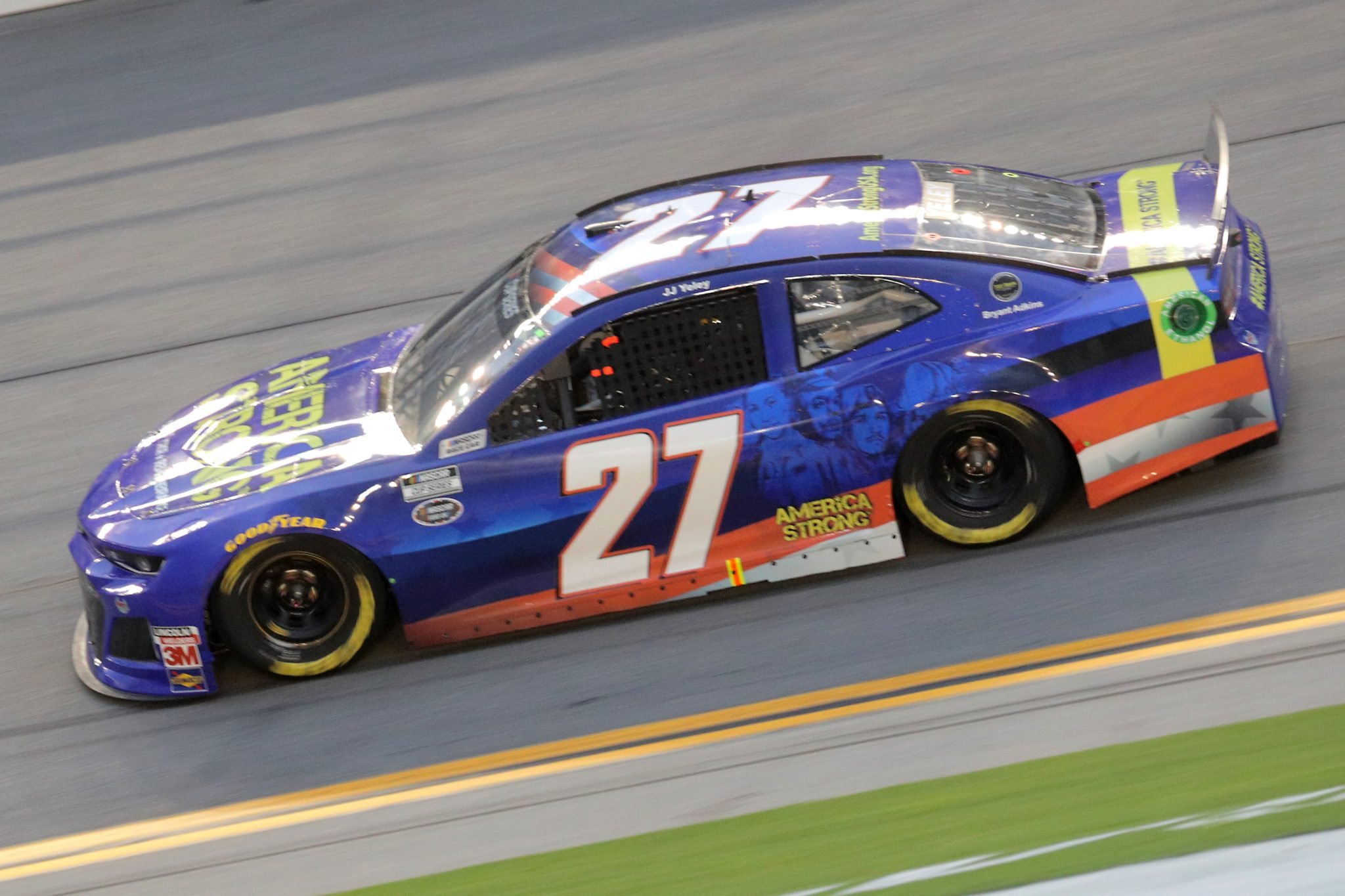 DAYTONA BEACH, FLORIDA - AUGUST 29: JJ Yeley, driver of the #27 America Strong Chevrolet, drives during the NASCAR Cup Series Coke Zero Sugar 400 at Daytona International Speedway on August 29, 2020 in Daytona Beach, Florida. (Photo by Chris Graythen/Getty Images) | Getty Images