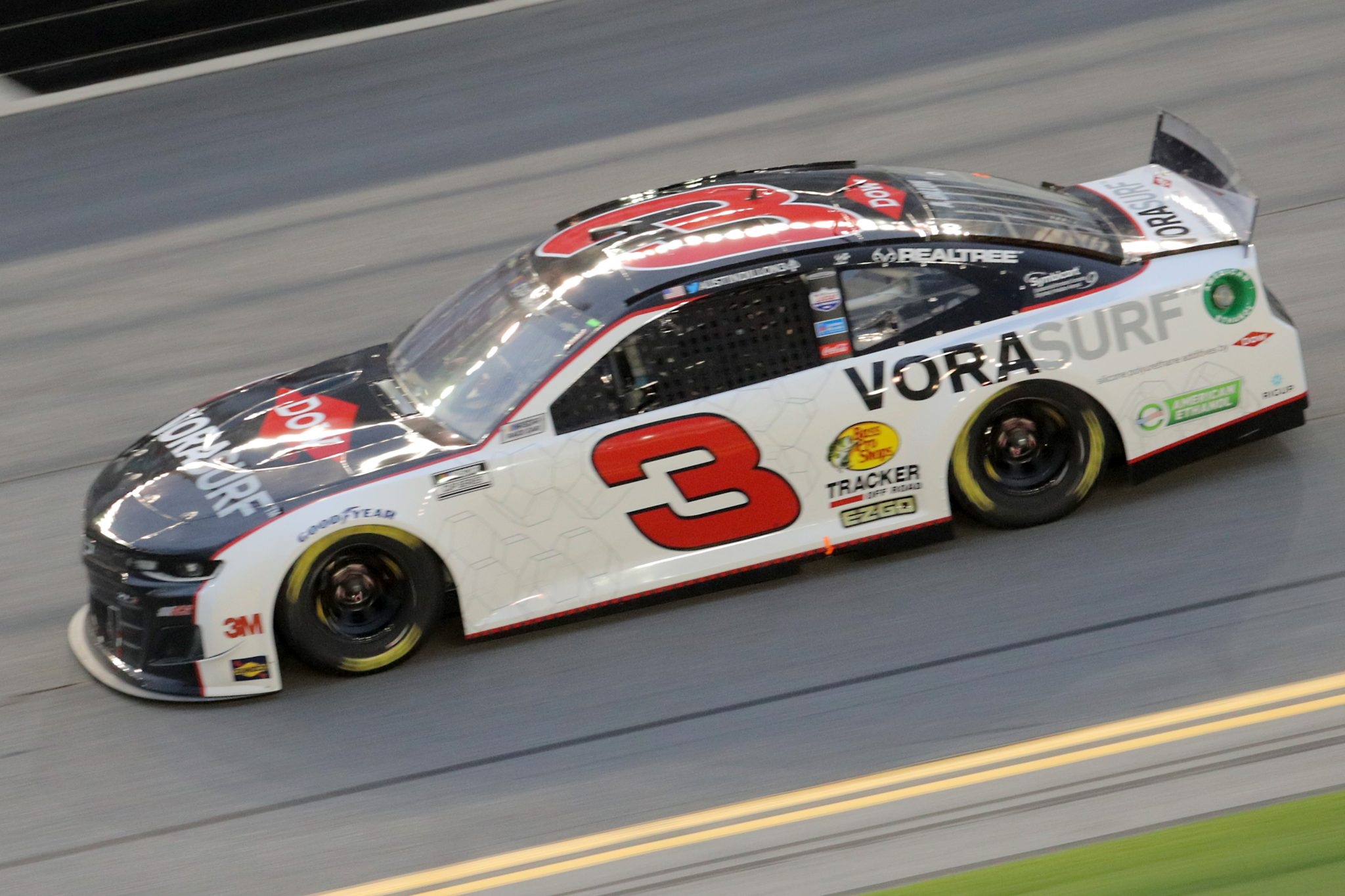DAYTONA BEACH, FLORIDA - AUGUST 29: Austin Dillon, driver of the #3 Dow VORASURF Chevrolet, drives during the NASCAR Cup Series Coke Zero Sugar 400 at Daytona International Speedway on August 29, 2020 in Daytona Beach, Florida. (Photo by Chris Graythen/Getty Images) | Getty Images