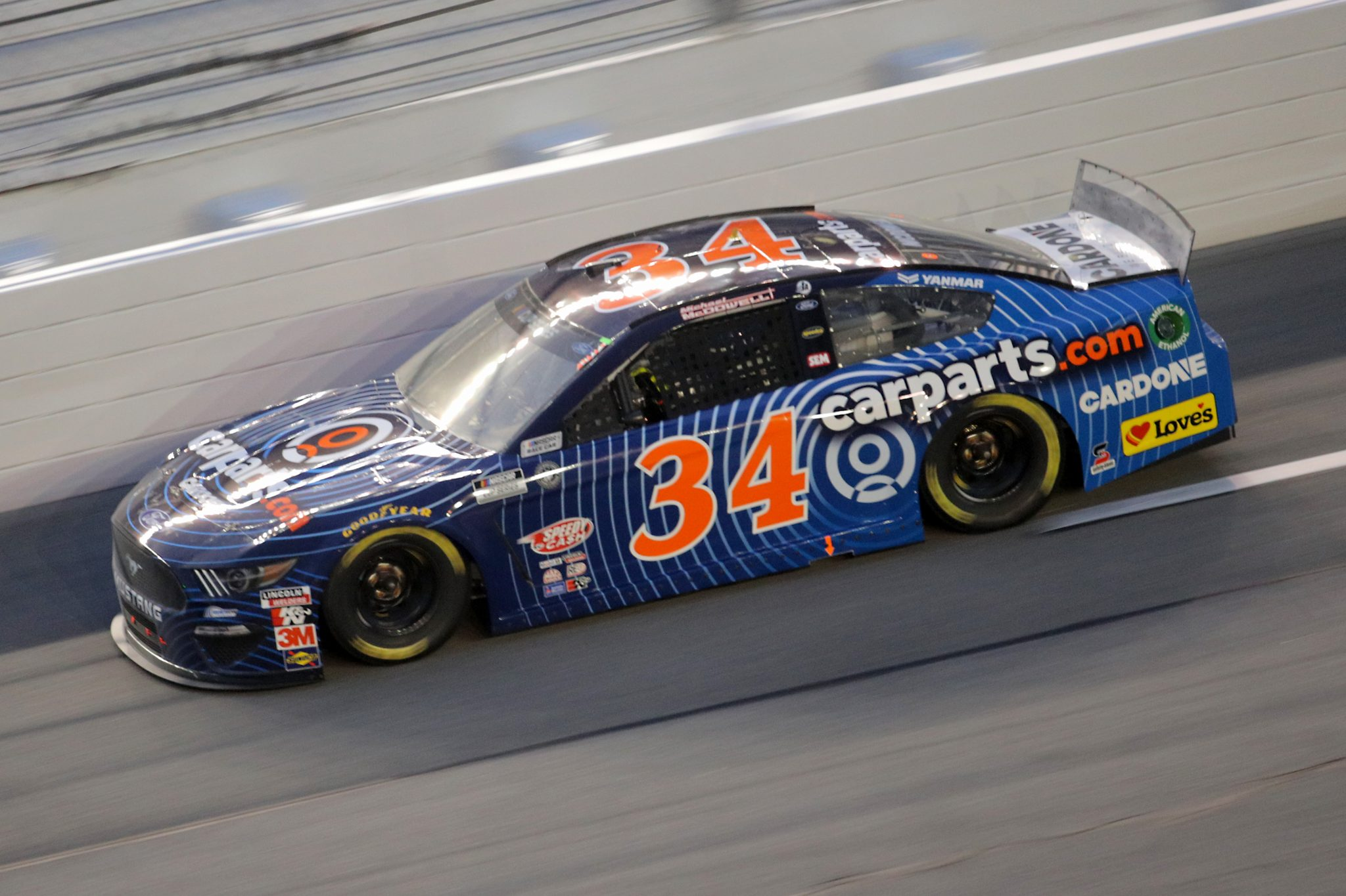 DAYTONA BEACH, FLORIDA - AUGUST 29: Michael McDowell, driver of the #34 CarParts.com Ford, drives during the NASCAR Cup Series Coke Zero Sugar 400 at Daytona International Speedway on August 29, 2020 in Daytona Beach, Florida. (Photo by Chris Graythen/Getty Images) | Getty Images